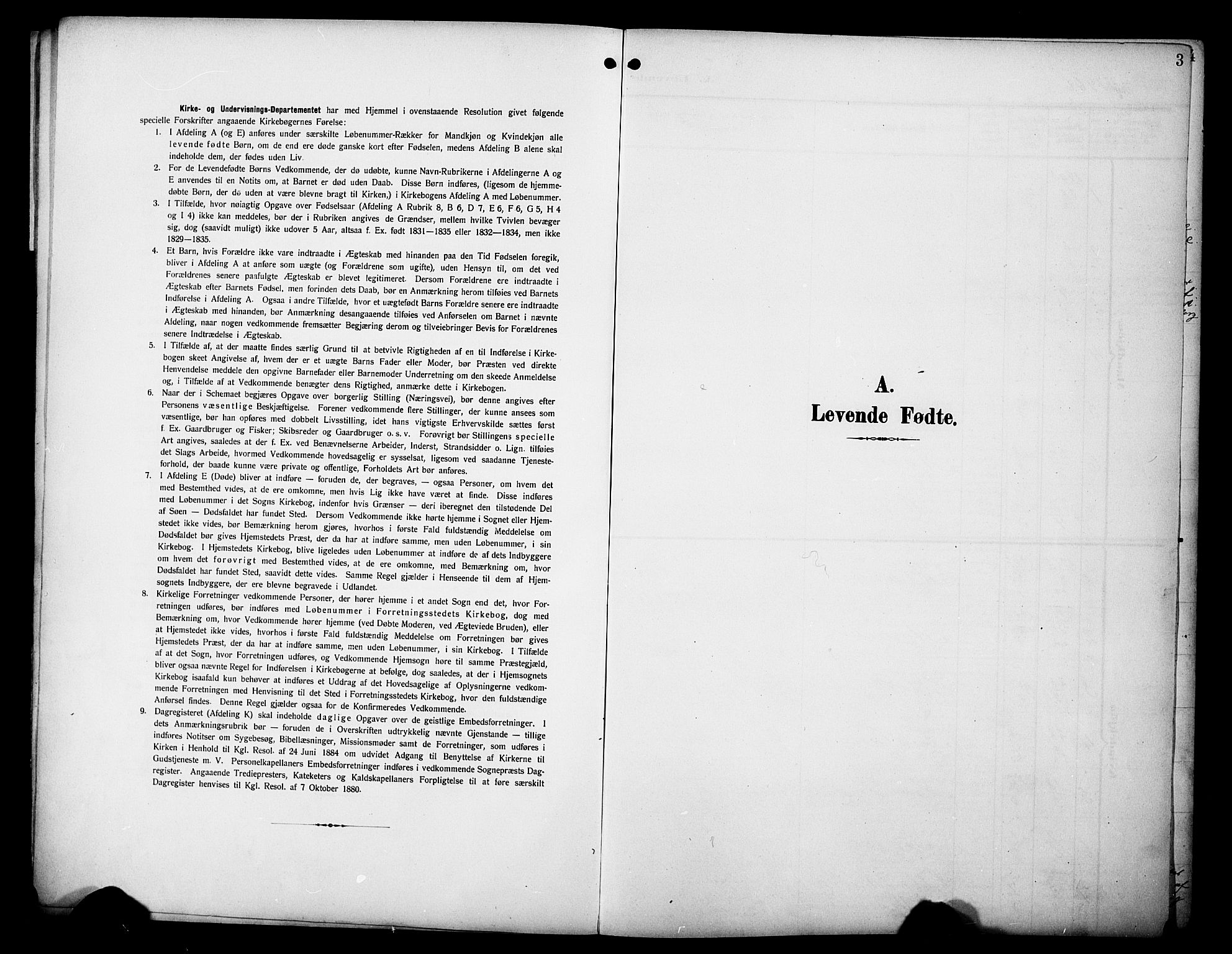 SAH, Øyer prestekontor, Klokkerbok nr. 6, 1906-1929, s. 3