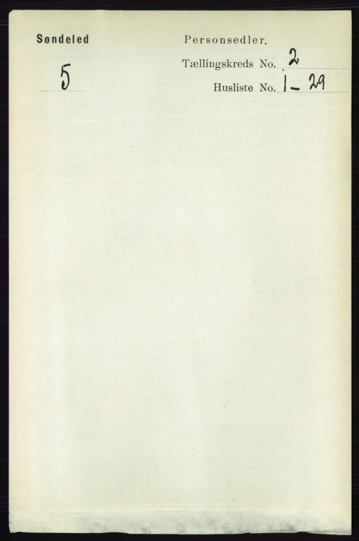 RA, Folketelling 1891 for 0913 Søndeled herred, 1891, s. 382