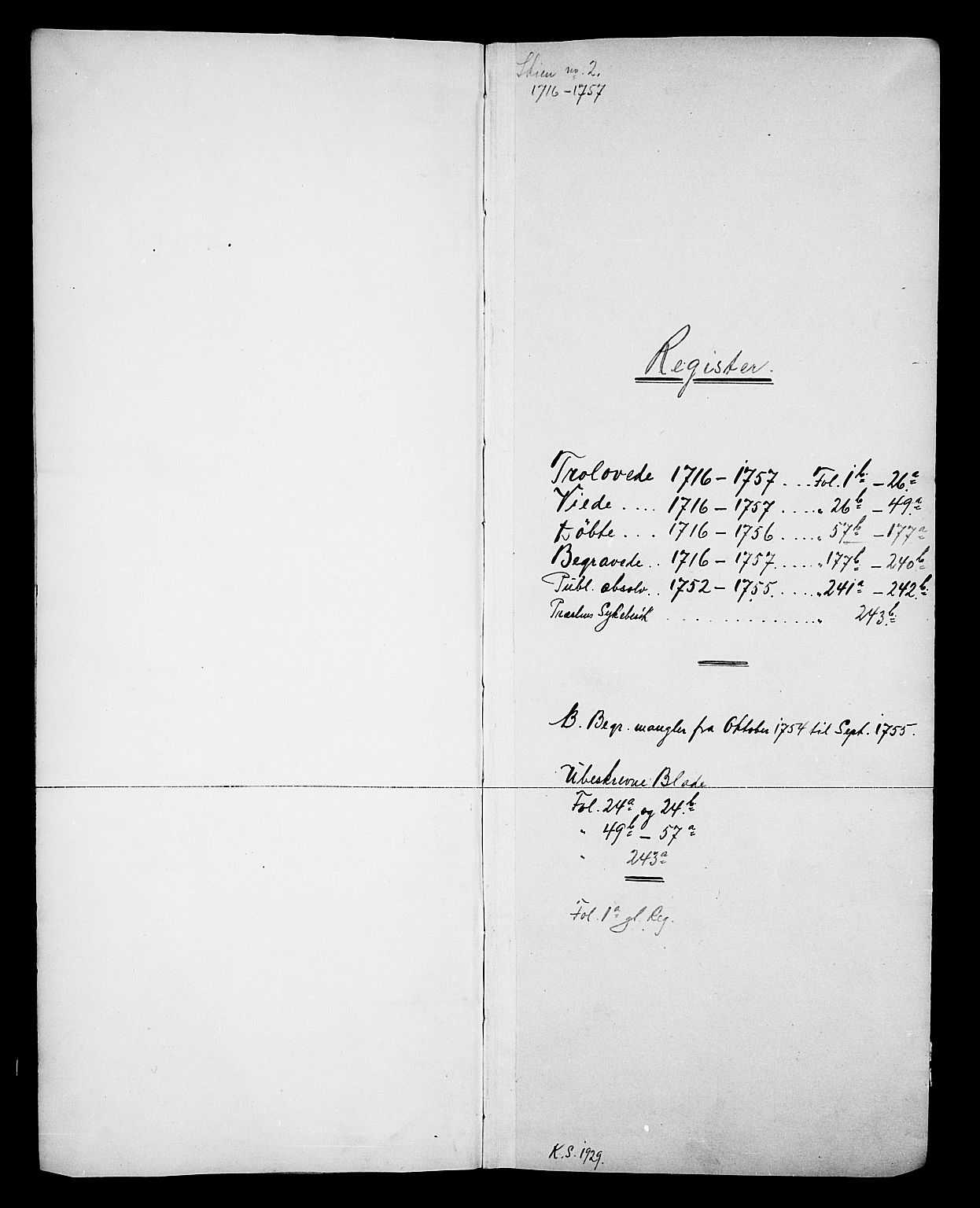 SAKO, Skien kirkebøker, F/Fa/L0002: Ministerialbok nr. 2, 1716-1757