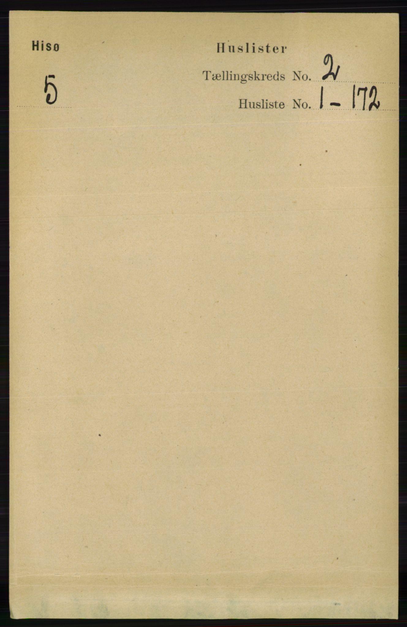 RA, Folketelling 1891 for 0922 Hisøy herred, 1891, s. 717