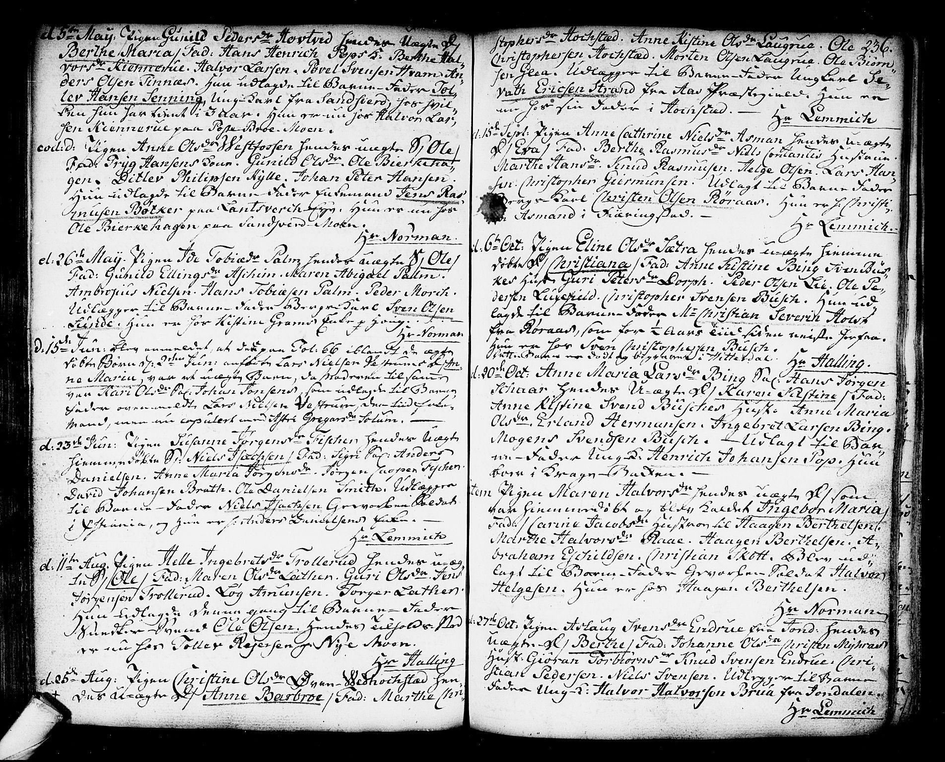 SAKO, Kongsberg kirkebøker, F/Fa/L0006: Ministerialbok nr. I 6, 1783-1797, s. 236
