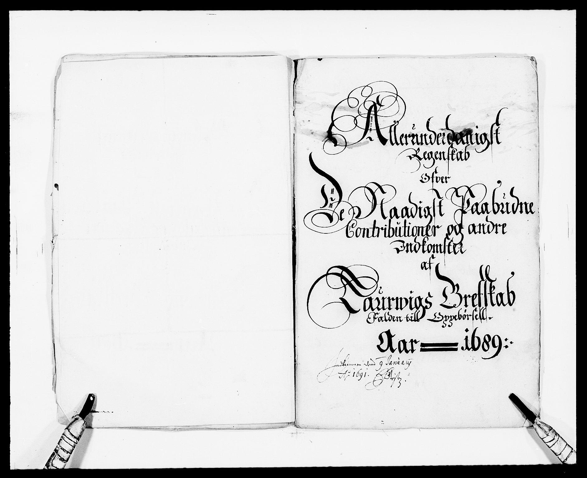 RA, Rentekammeret inntil 1814, Reviderte regnskaper, Fogderegnskap, R33/L1971: Fogderegnskap Larvik grevskap, 1688-1689, s. 16