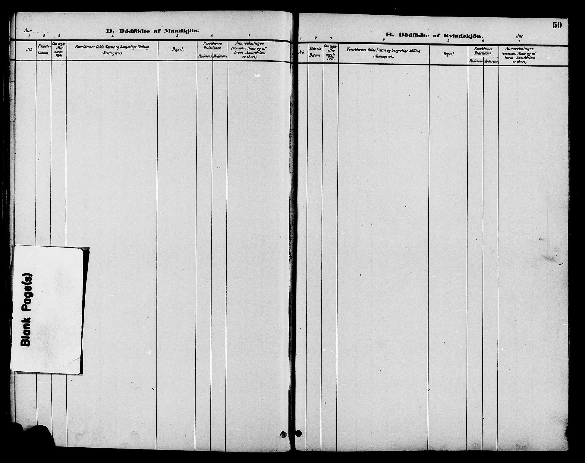 SAH, Øystre Slidre prestekontor, Klokkerbok nr. 4, 1887-1907, s. 50