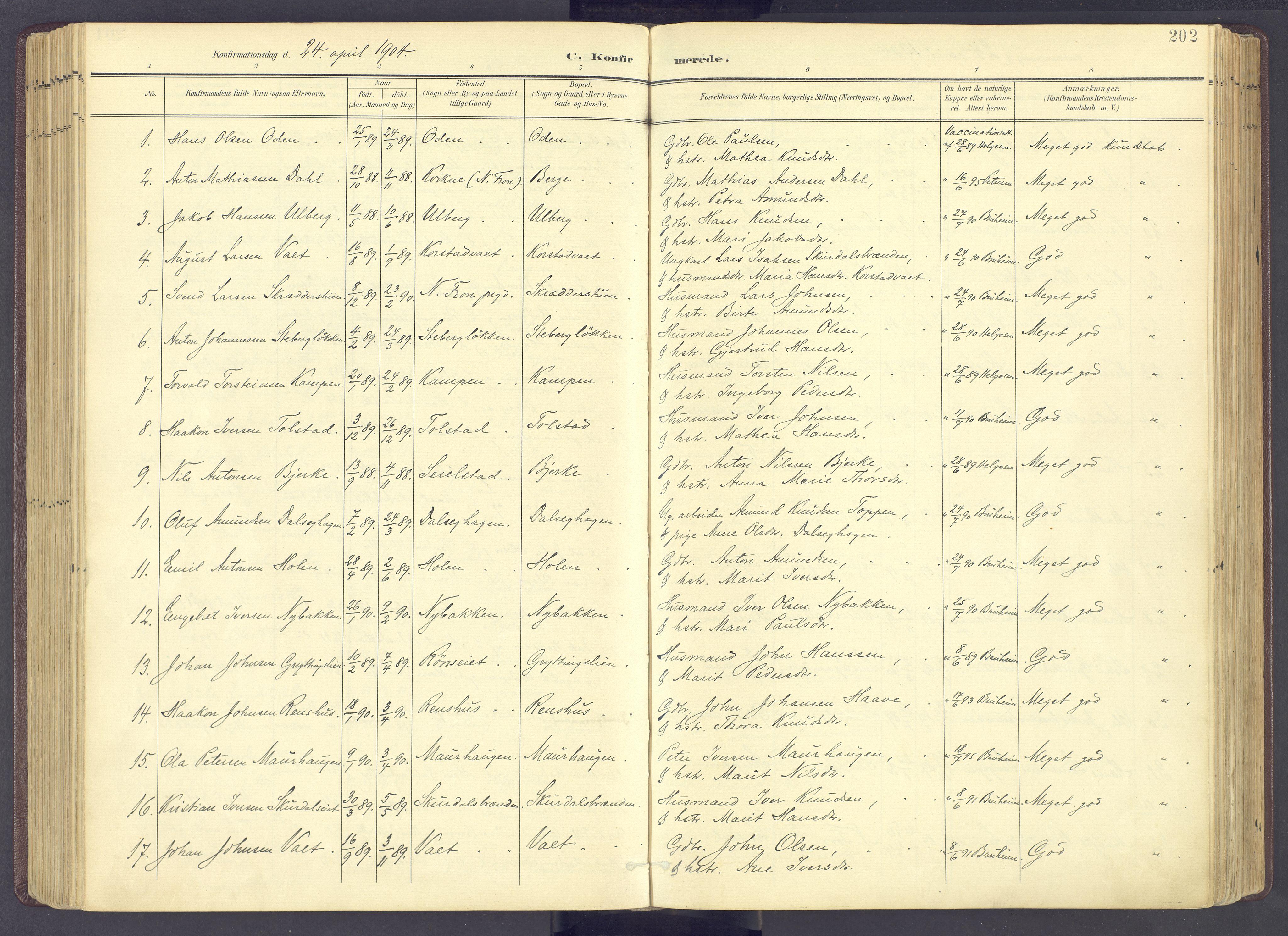 SAH, Sør-Fron prestekontor, H/Ha/Haa/L0004: Ministerialbok nr. 4, 1898-1919, s. 202