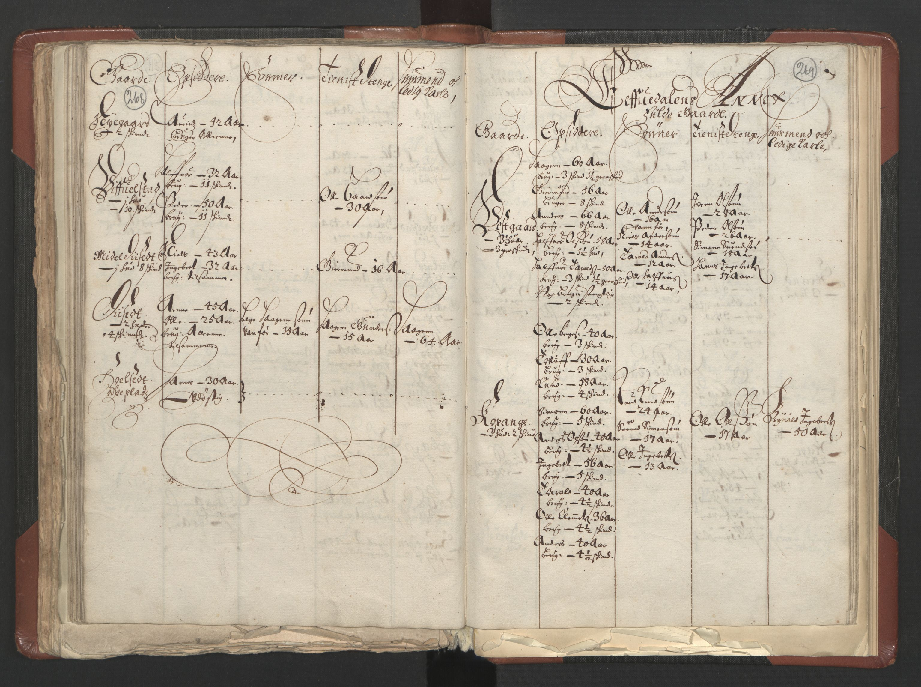 RA, Fogdenes og sorenskrivernes manntall 1664-1666, nr. 3: Hedmark fogderi og Solør, Østerdal og Odal fogderi, 1664, s. 268-269