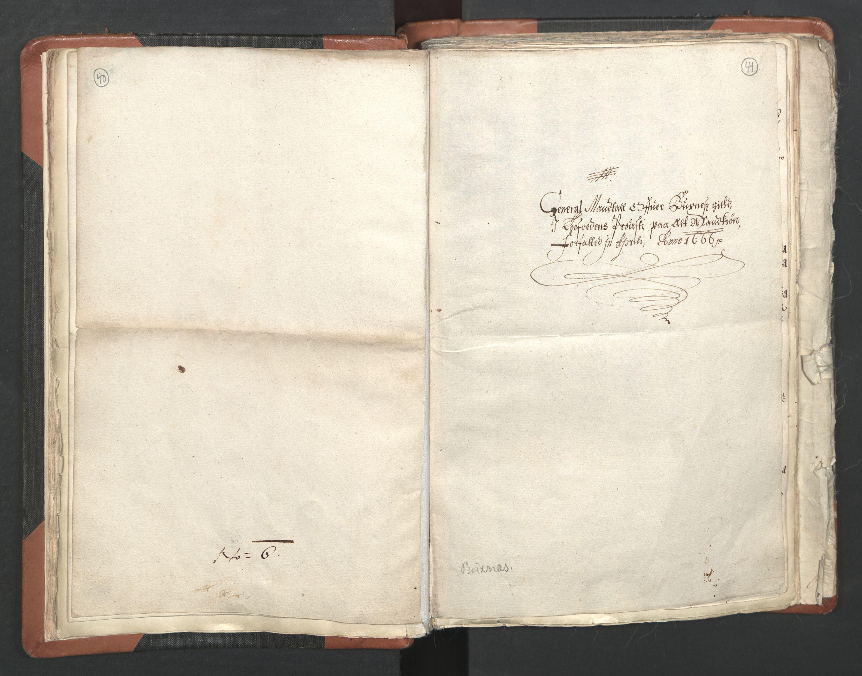 RA, Sogneprestenes manntall 1664-1666, nr. 36: Lofoten og Vesterålen prosti, Senja prosti og Troms prosti, 1664-1666, s. 40-41