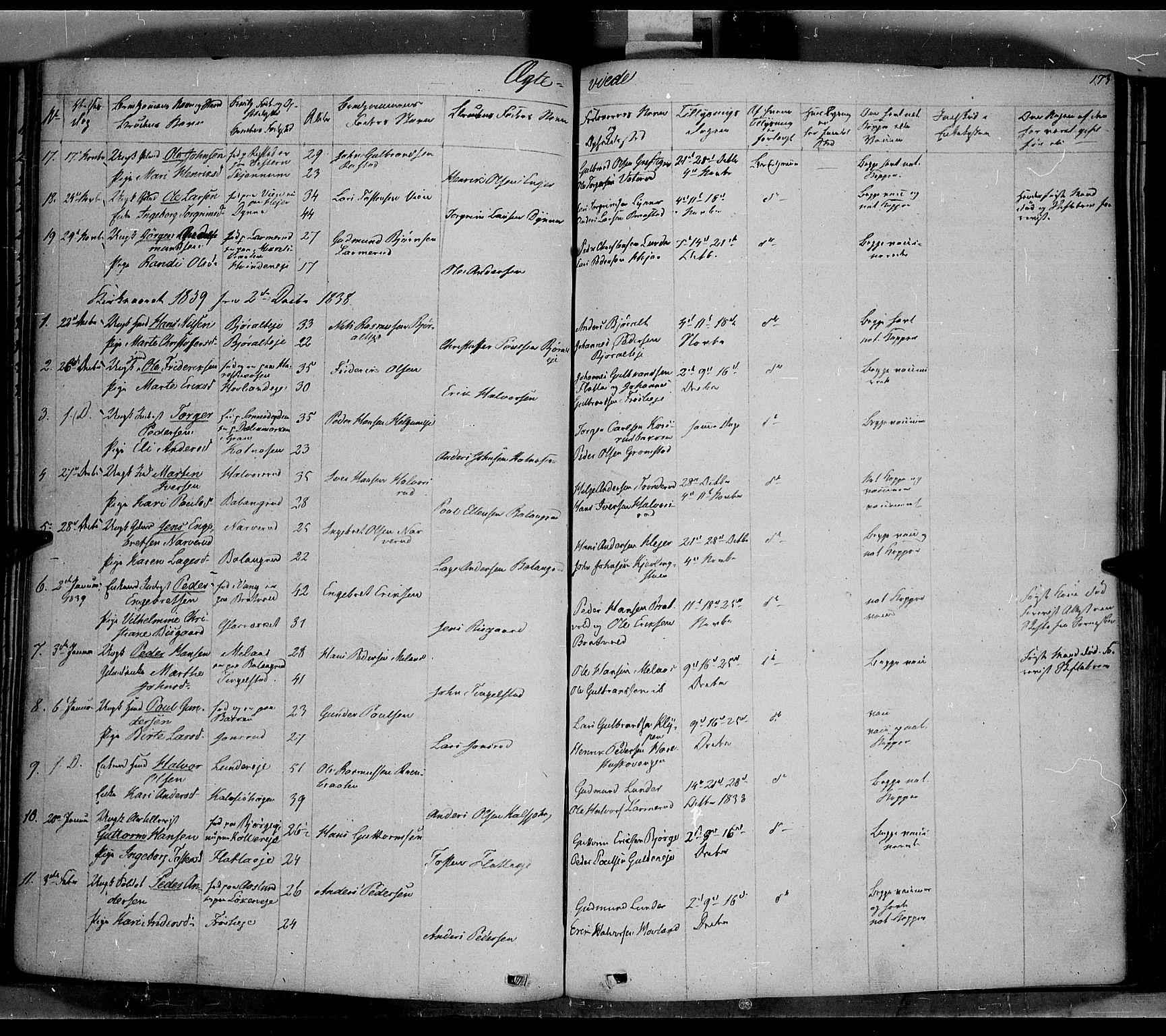 SAH, Jevnaker prestekontor, Ministerialbok nr. 6, 1837-1857, s. 173