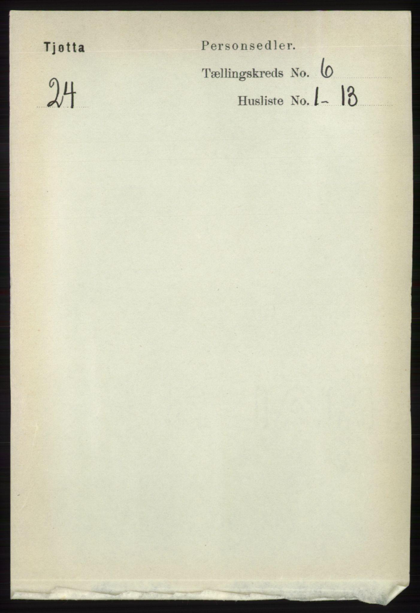 RA, Folketelling 1891 for 1817 Tjøtta herred, 1891, s. 2872