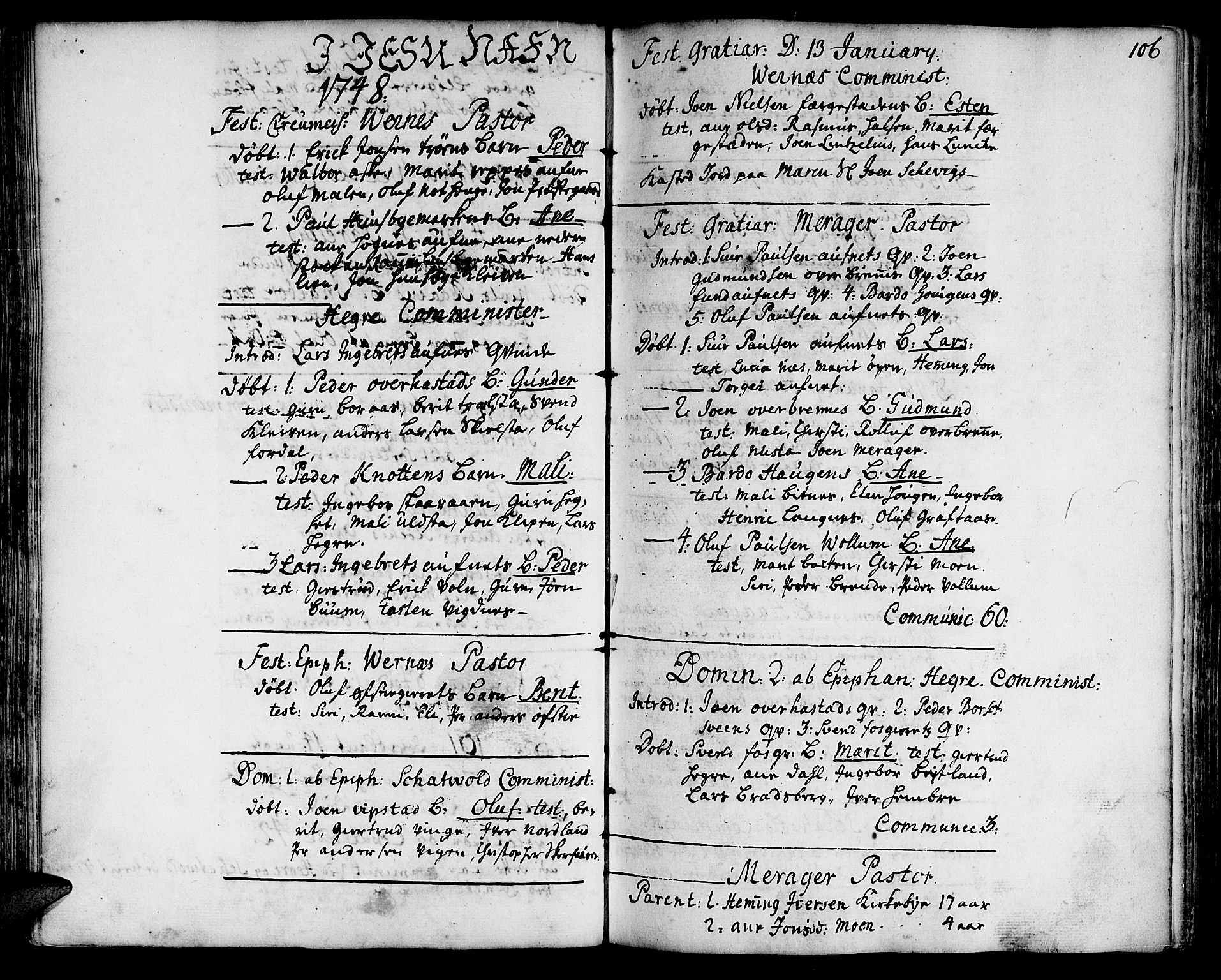 SAT, Ministerialprotokoller, klokkerbøker og fødselsregistre - Nord-Trøndelag, 709/L0056: Ministerialbok nr. 709A04, 1740-1756, s. 106