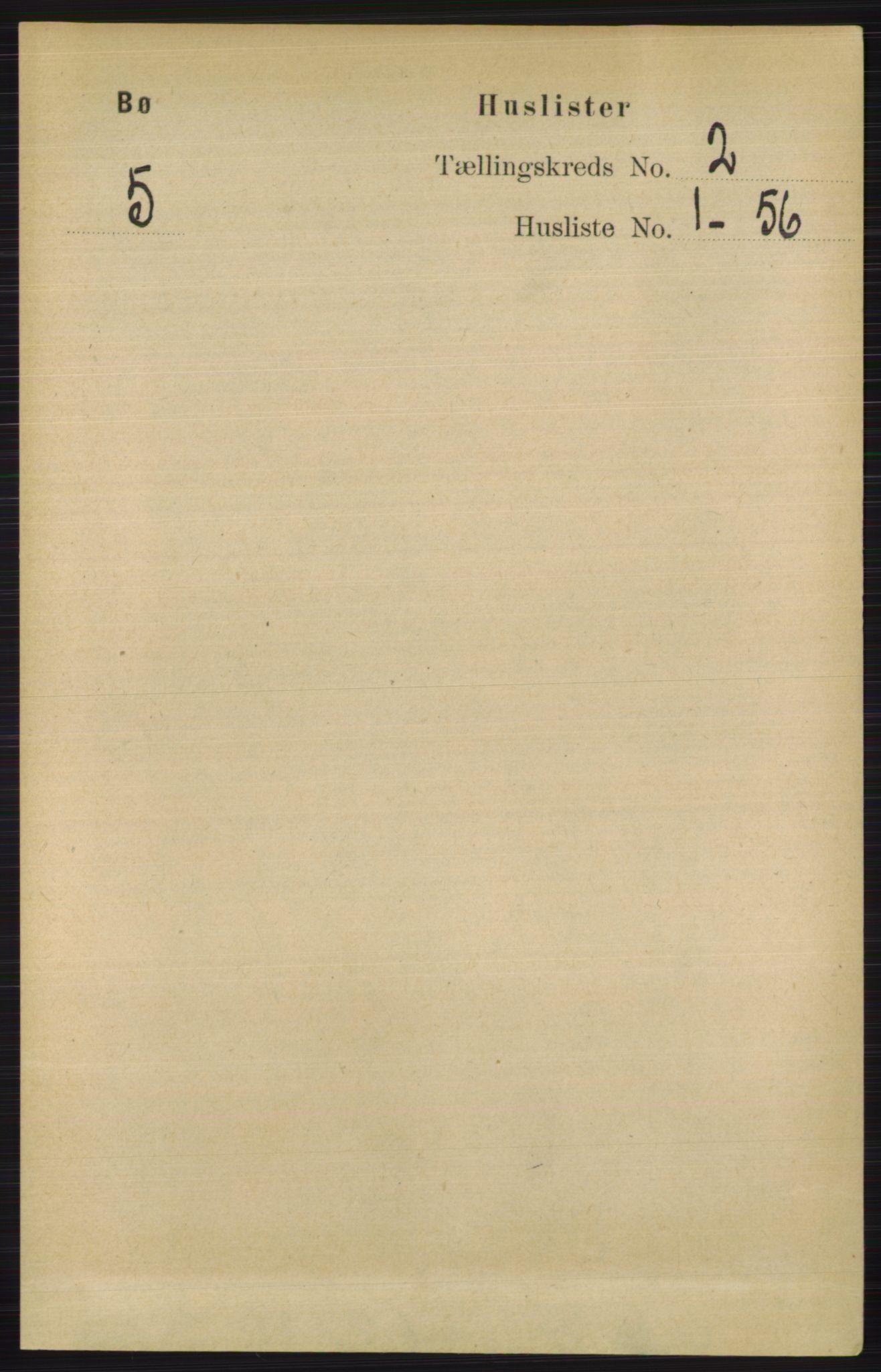 RA, Folketelling 1891 for 0821 Bø herred, 1891, s. 618