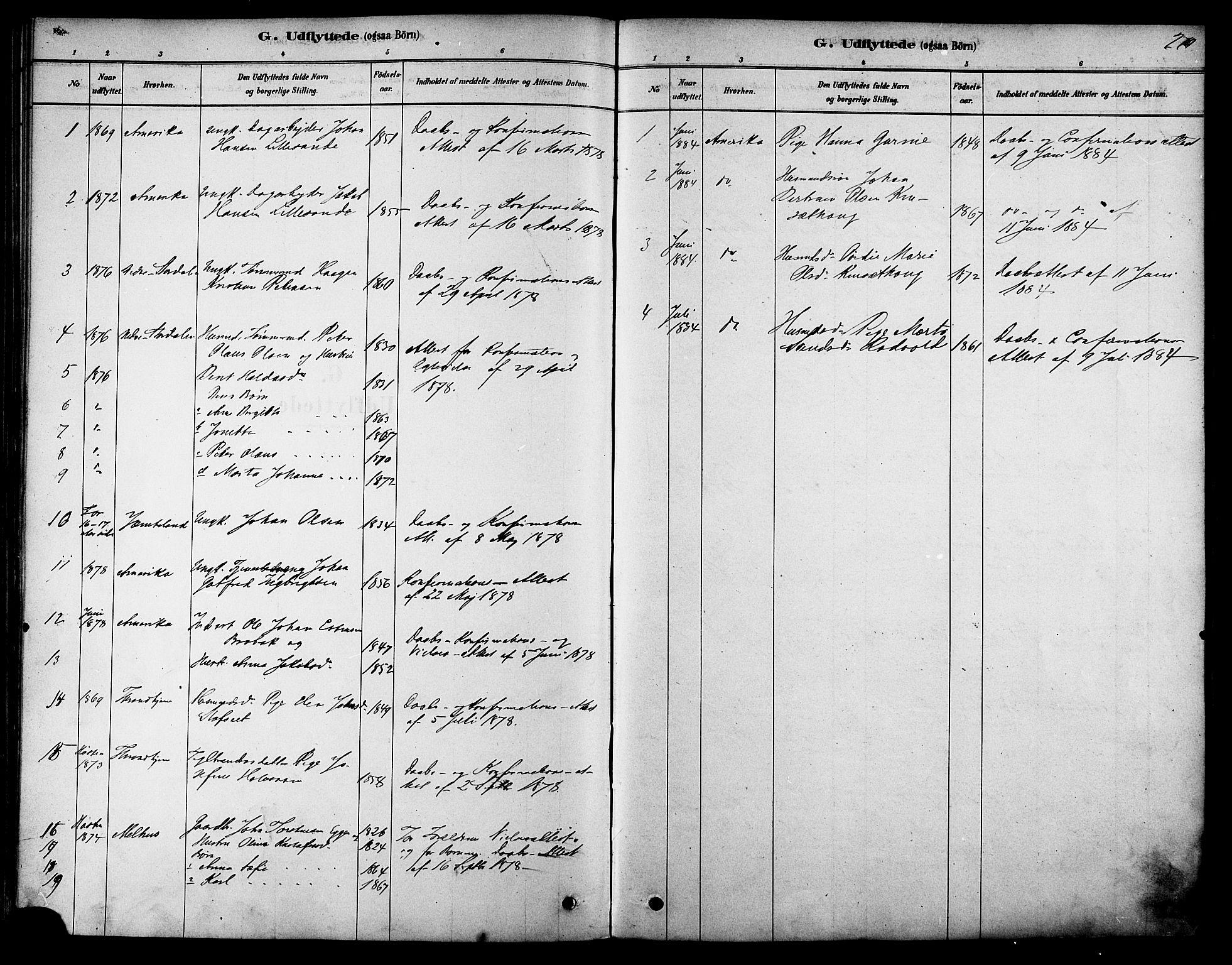 SAT, Ministerialprotokoller, klokkerbøker og fødselsregistre - Sør-Trøndelag, 616/L0410: Ministerialbok nr. 616A07, 1878-1893, s. 270