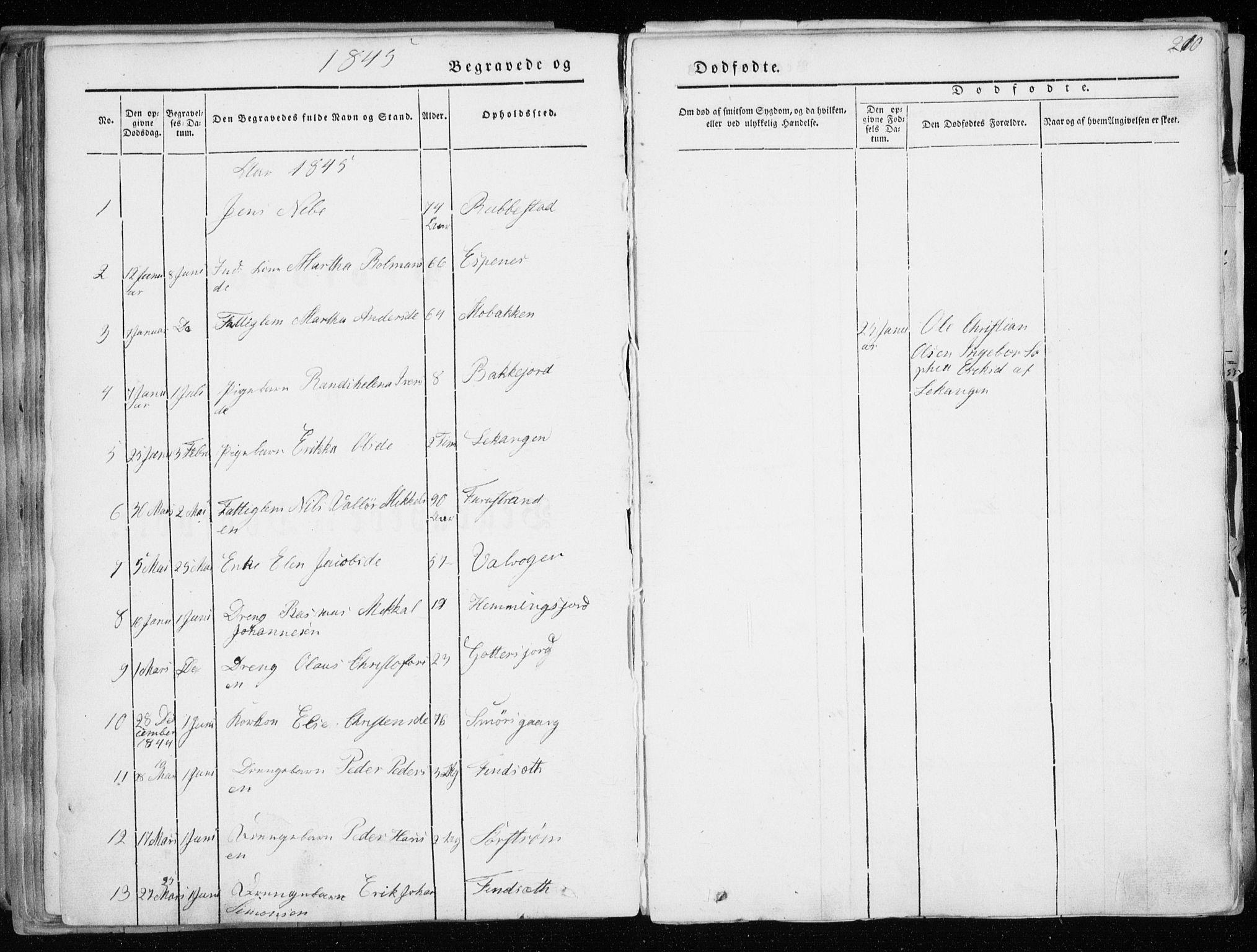 SATØ, Tranøy sokneprestkontor, I/Ia/Iaa/L0006kirke: Ministerialbok nr. 6, 1844-1855, s. 210