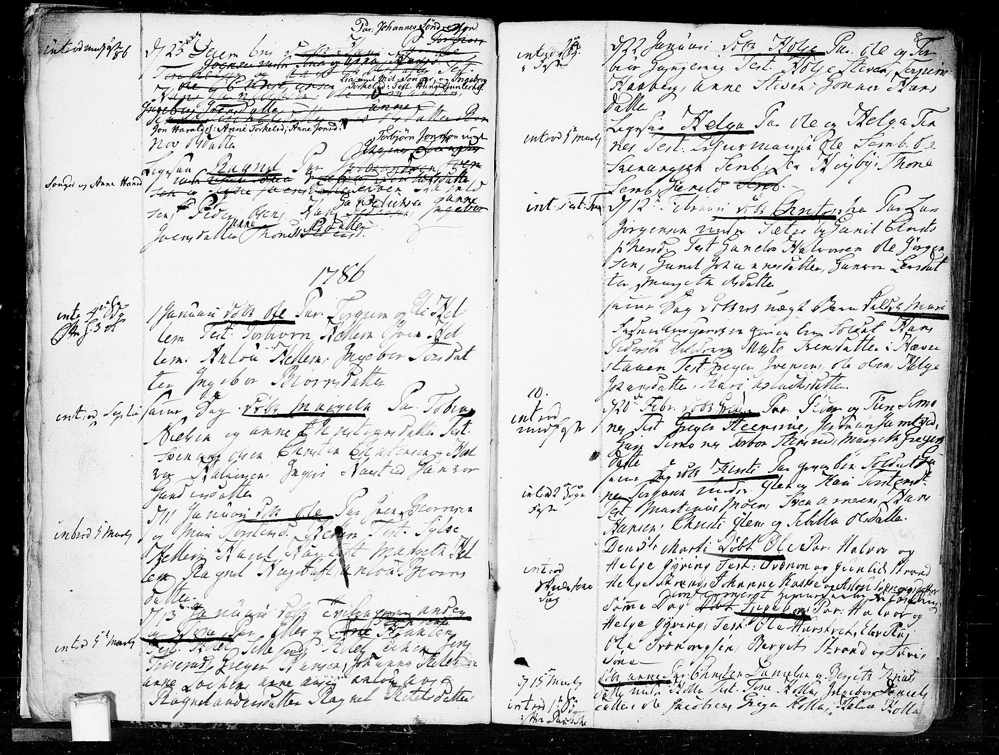 SAKO, Heddal kirkebøker, F/Fa/L0004: Ministerialbok nr. I 4, 1784-1814, s. 8