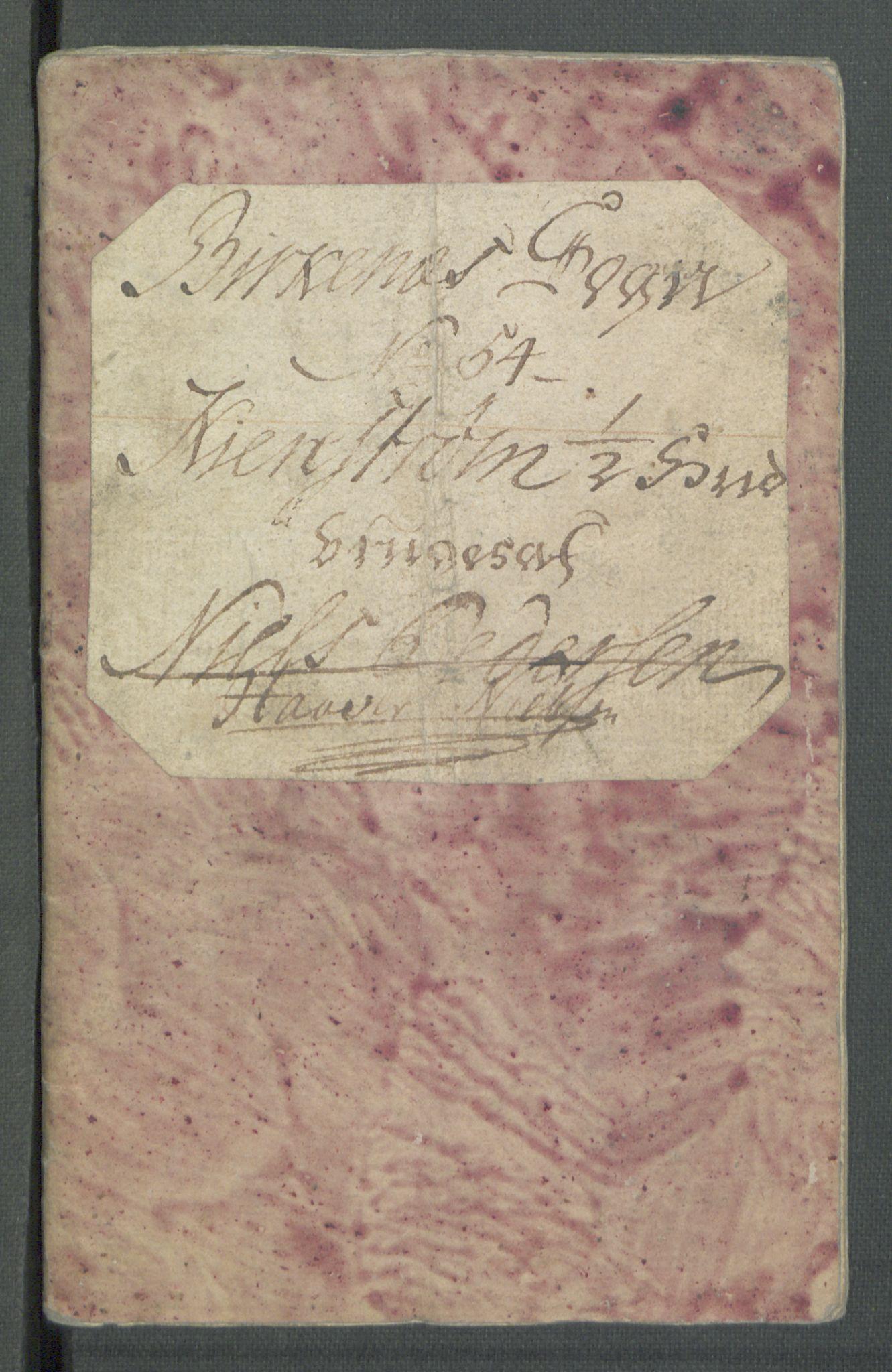 RA, Rentekammeret inntil 1814, Realistisk ordnet avdeling, Od/L0001: Oppløp, 1786-1769, s. 462