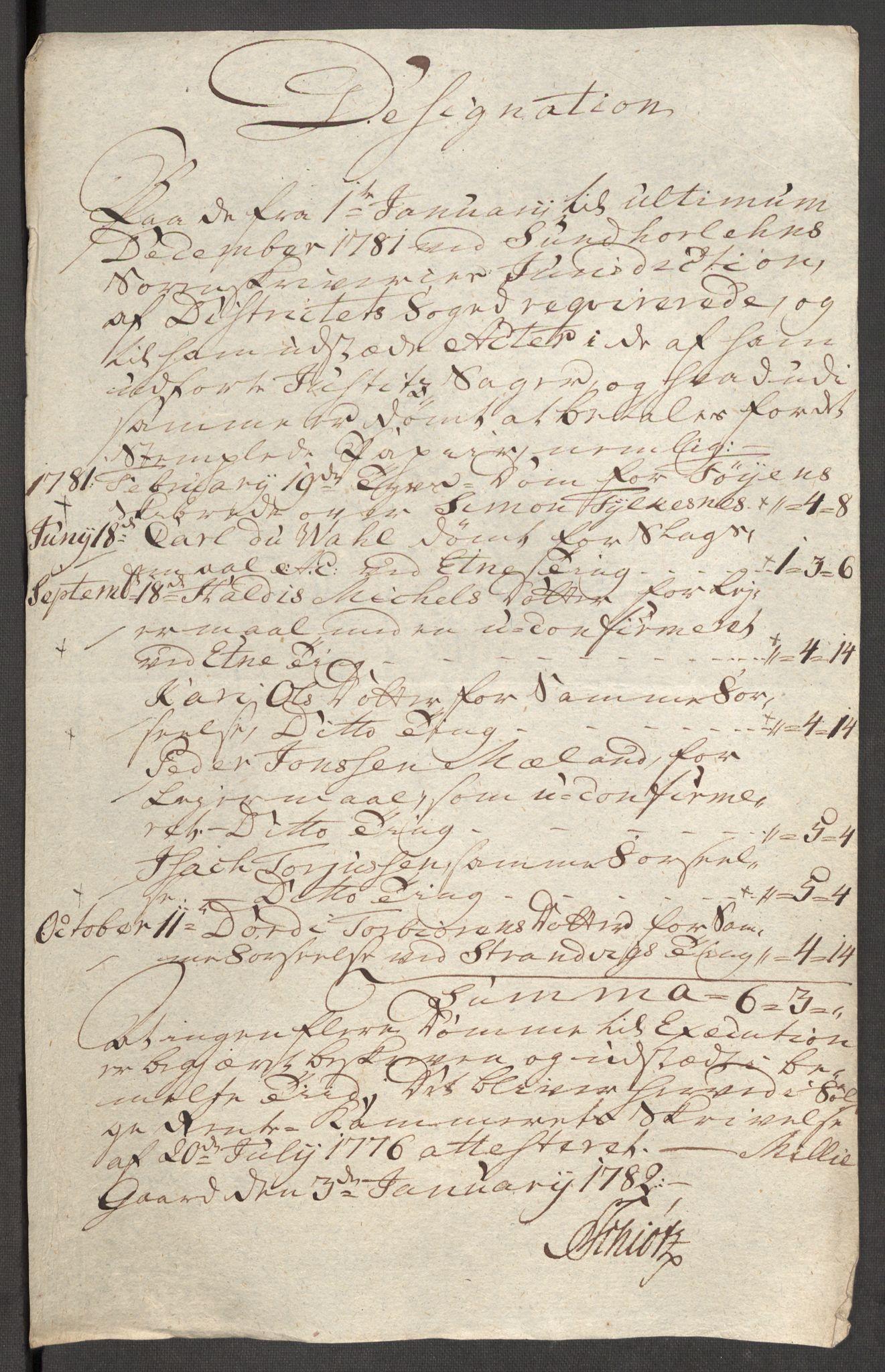 RA, Rentekammeret inntil 1814, Reviderte regnskaper, Fogderegnskap, R48/L3097: Fogderegnskap Sunnhordland og Hardanger, 1781, s. 207