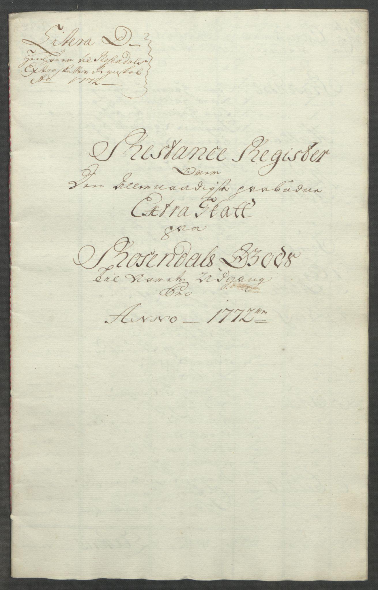 RA, Rentekammeret inntil 1814, Reviderte regnskaper, Fogderegnskap, R49/L3157: Ekstraskatten Rosendal Baroni, 1762-1772, s. 366