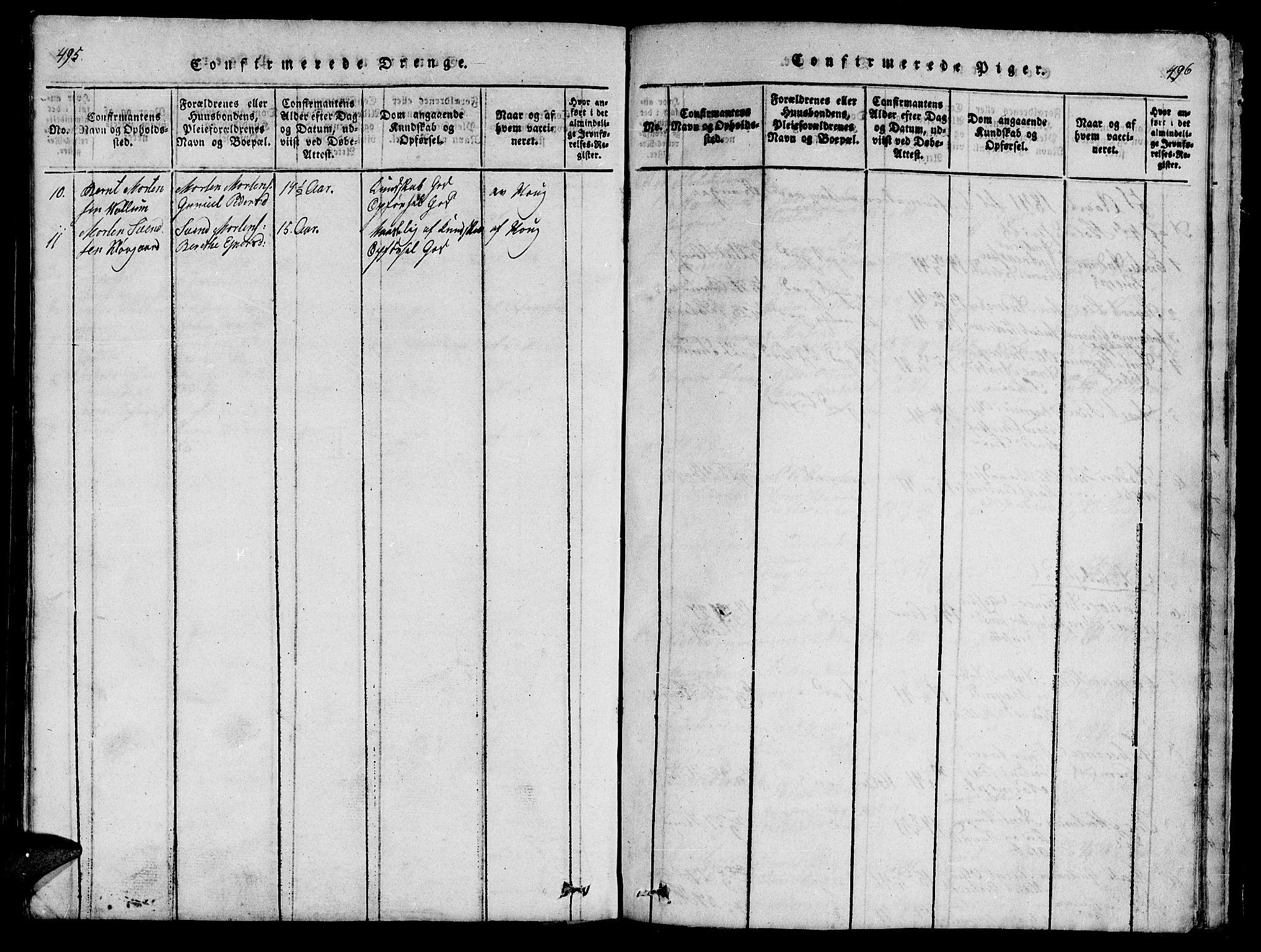 SAT, Ministerialprotokoller, klokkerbøker og fødselsregistre - Nord-Trøndelag, 747/L0459: Klokkerbok nr. 747C01, 1816-1842, s. 495-496