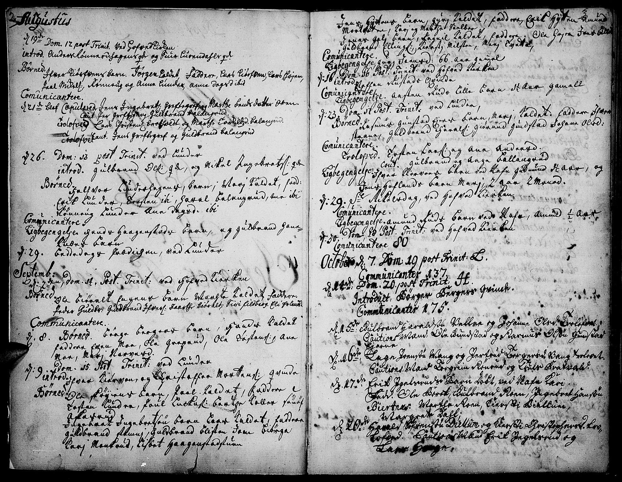 SAH, Jevnaker prestekontor, Ministerialbok nr. 2, 1725-1751, s. 2-3