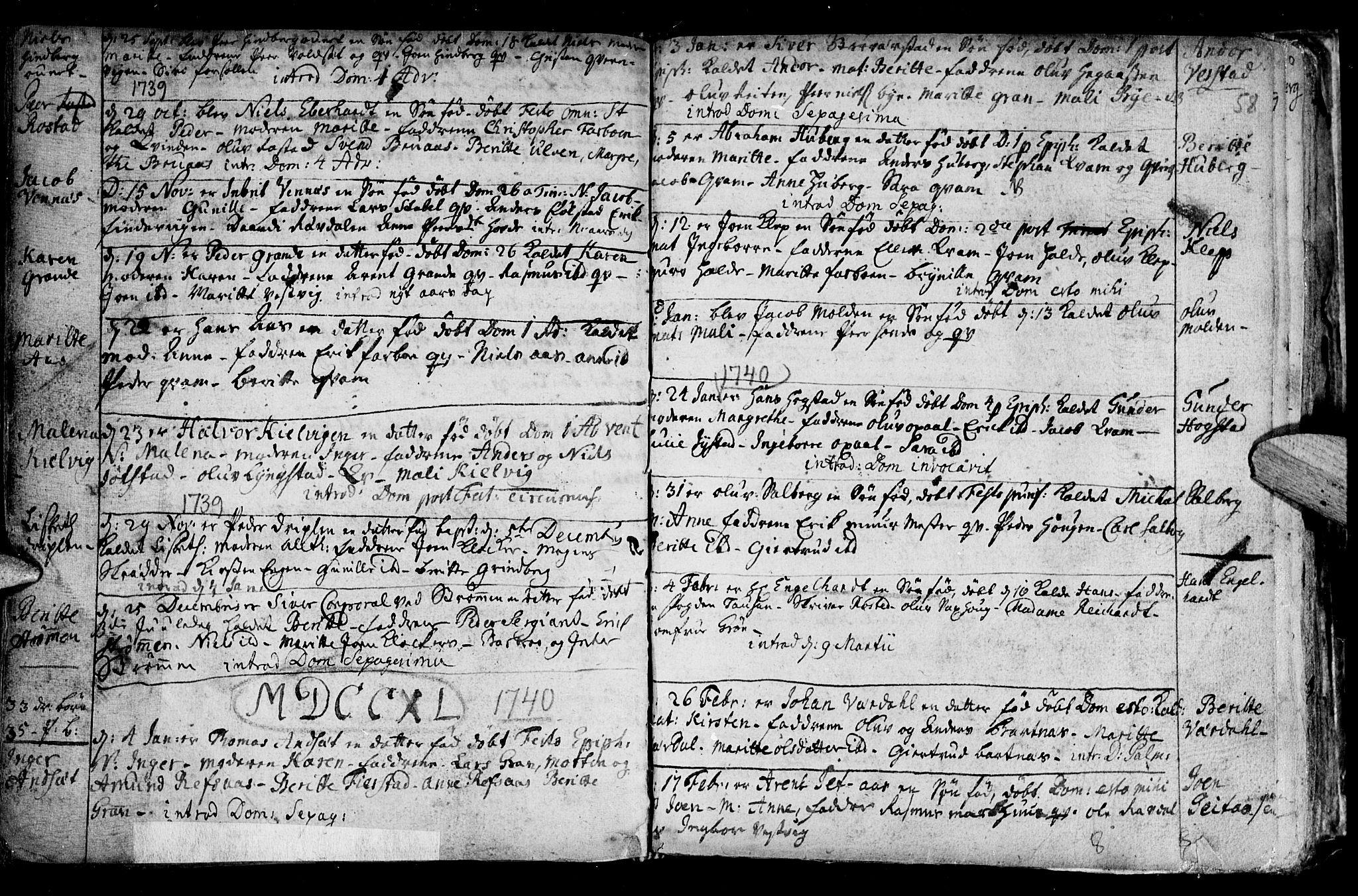 SAT, Ministerialprotokoller, klokkerbøker og fødselsregistre - Nord-Trøndelag, 730/L0272: Ministerialbok nr. 730A01, 1733-1764, s. 58