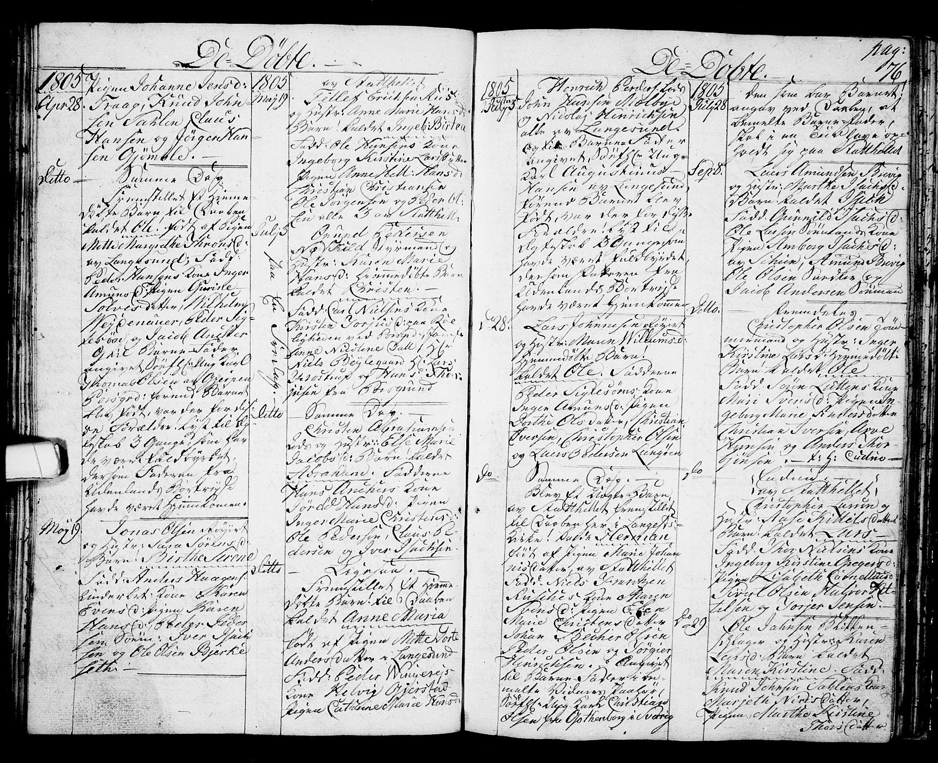 SAKO, Langesund kirkebøker, G/Ga/L0002: Klokkerbok nr. 2, 1801-1815, s. 76