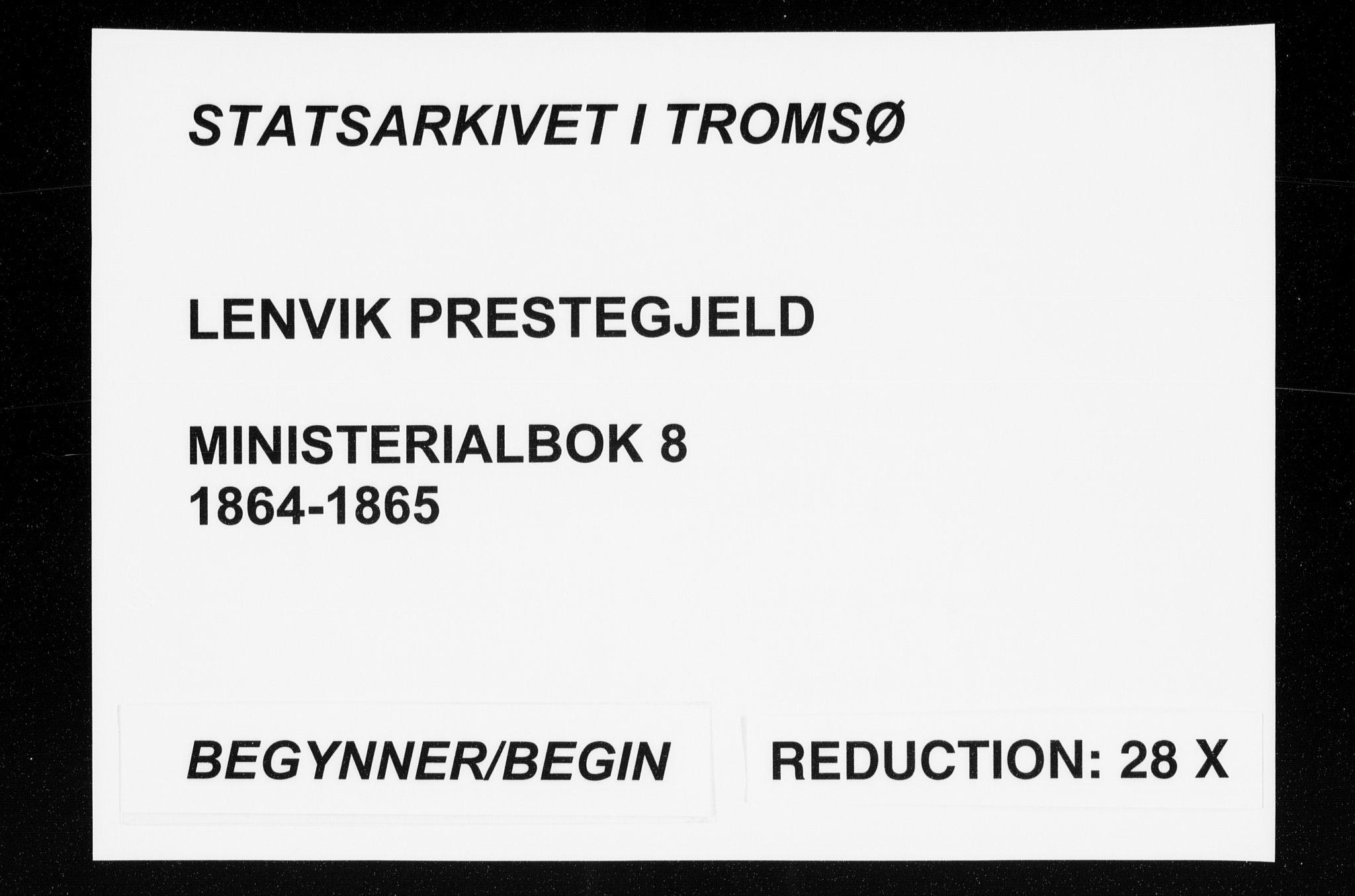 SATØ, Lenvik sokneprestembete, H/Ha: Ministerialbok nr. 8, 1864-1865