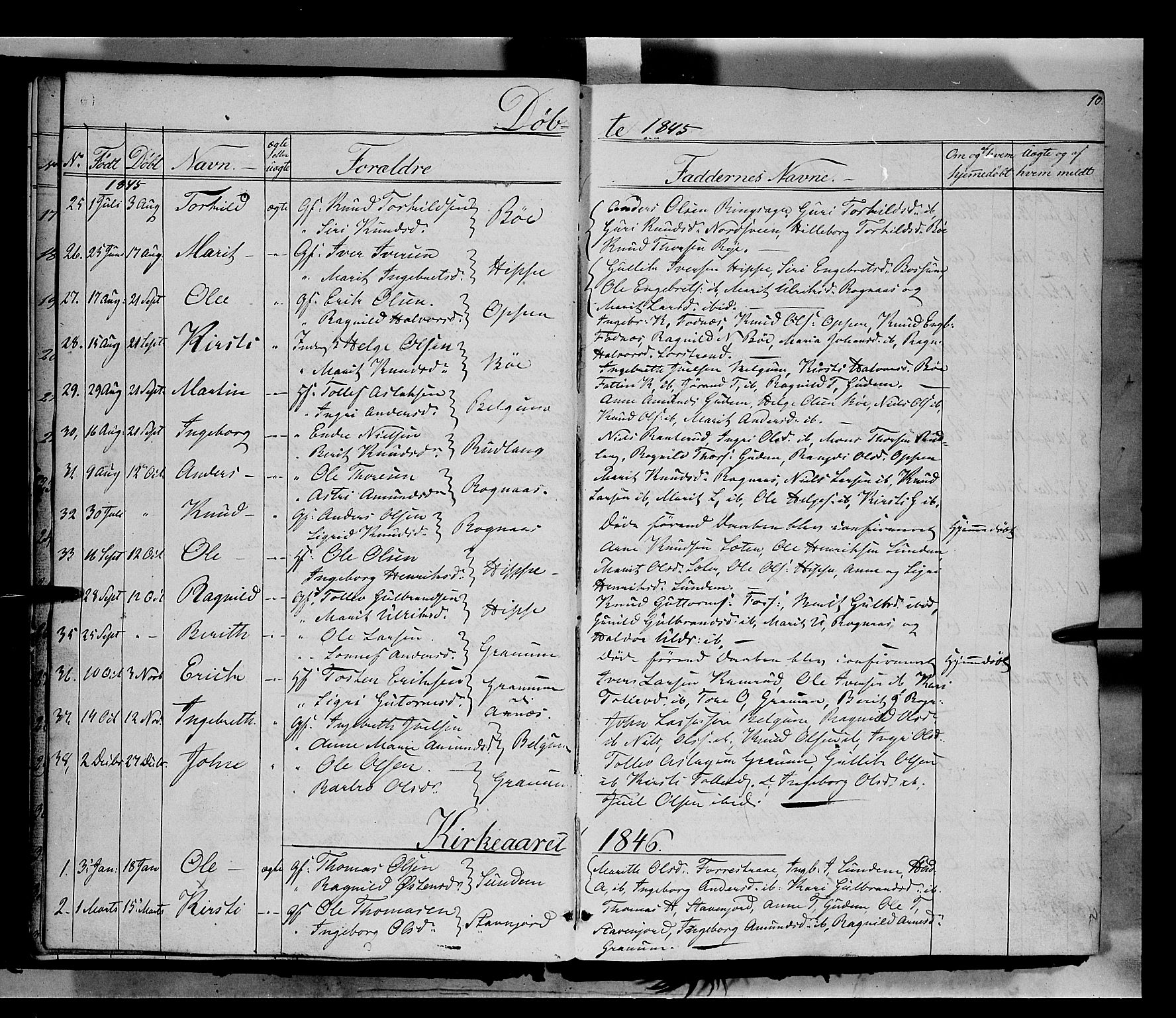 SAH, Nord-Aurdal prestekontor, Ministerialbok nr. 6, 1842-1863, s. 10