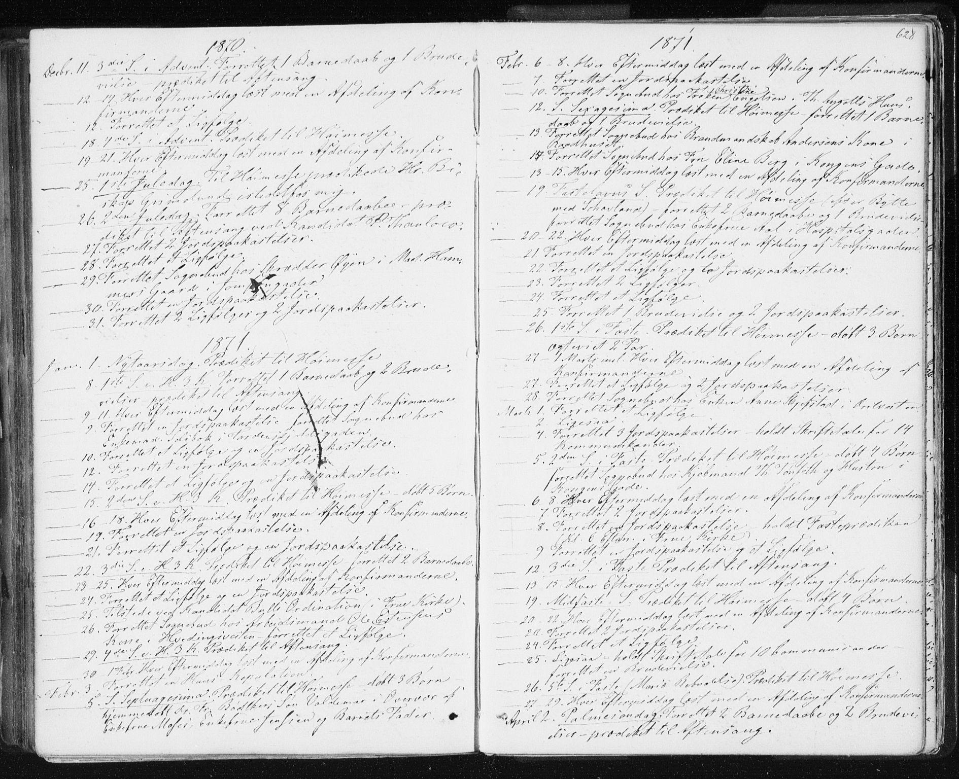 SAT, Ministerialprotokoller, klokkerbøker og fødselsregistre - Sør-Trøndelag, 601/L0055: Ministerialbok nr. 601A23, 1866-1877, s. 628