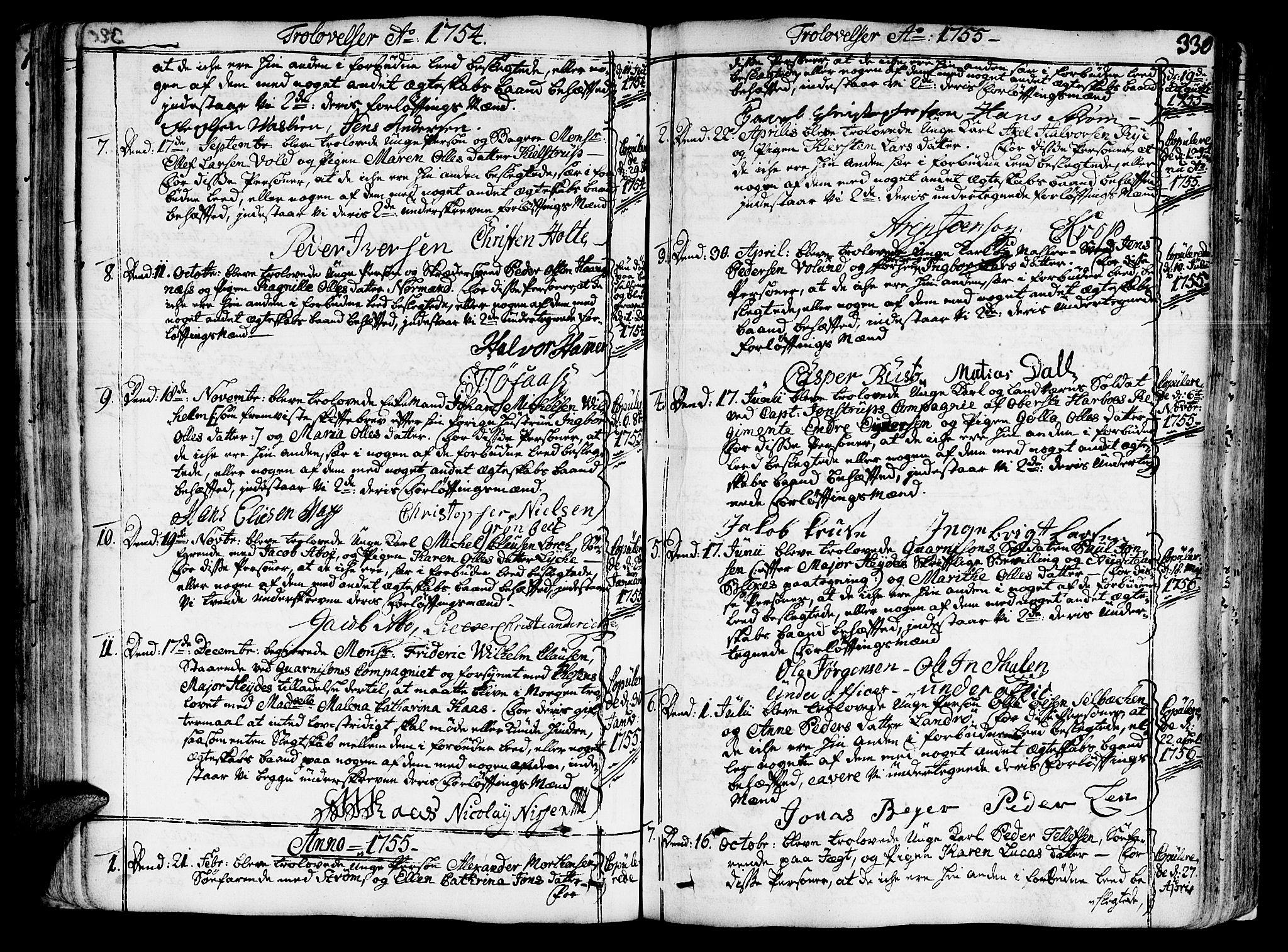 SAT, Ministerialprotokoller, klokkerbøker og fødselsregistre - Sør-Trøndelag, 602/L0103: Ministerialbok nr. 602A01, 1732-1774, s. 330