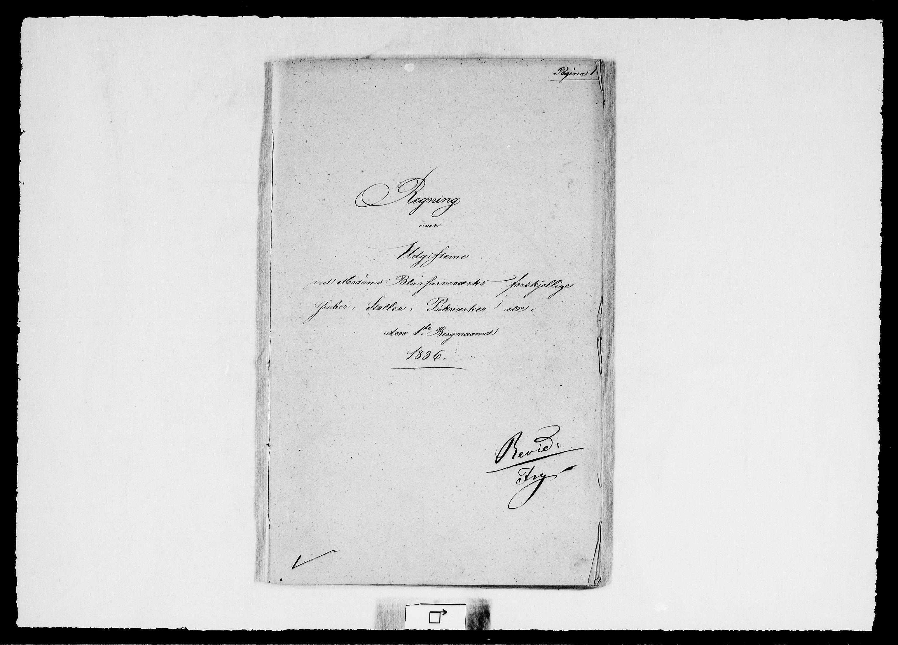 RA, Modums Blaafarveværk, G/Gd/Gdd/L0262, 1836, s. 2