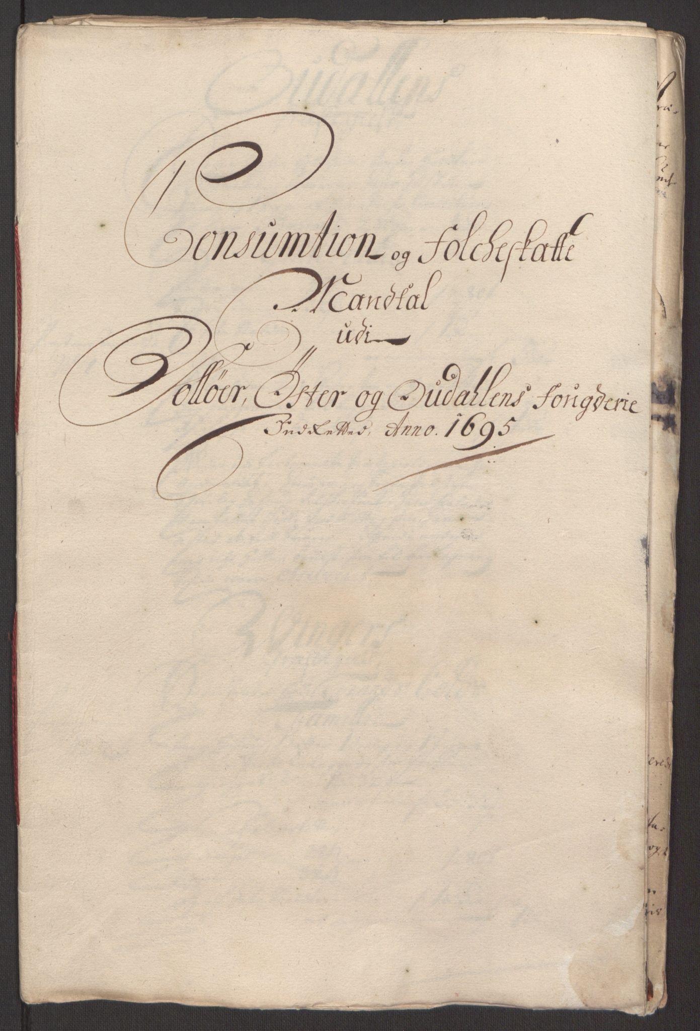 RA, Rentekammeret inntil 1814, Reviderte regnskaper, Fogderegnskap, R13/L0833: Fogderegnskap Solør, Odal og Østerdal, 1695, s. 265