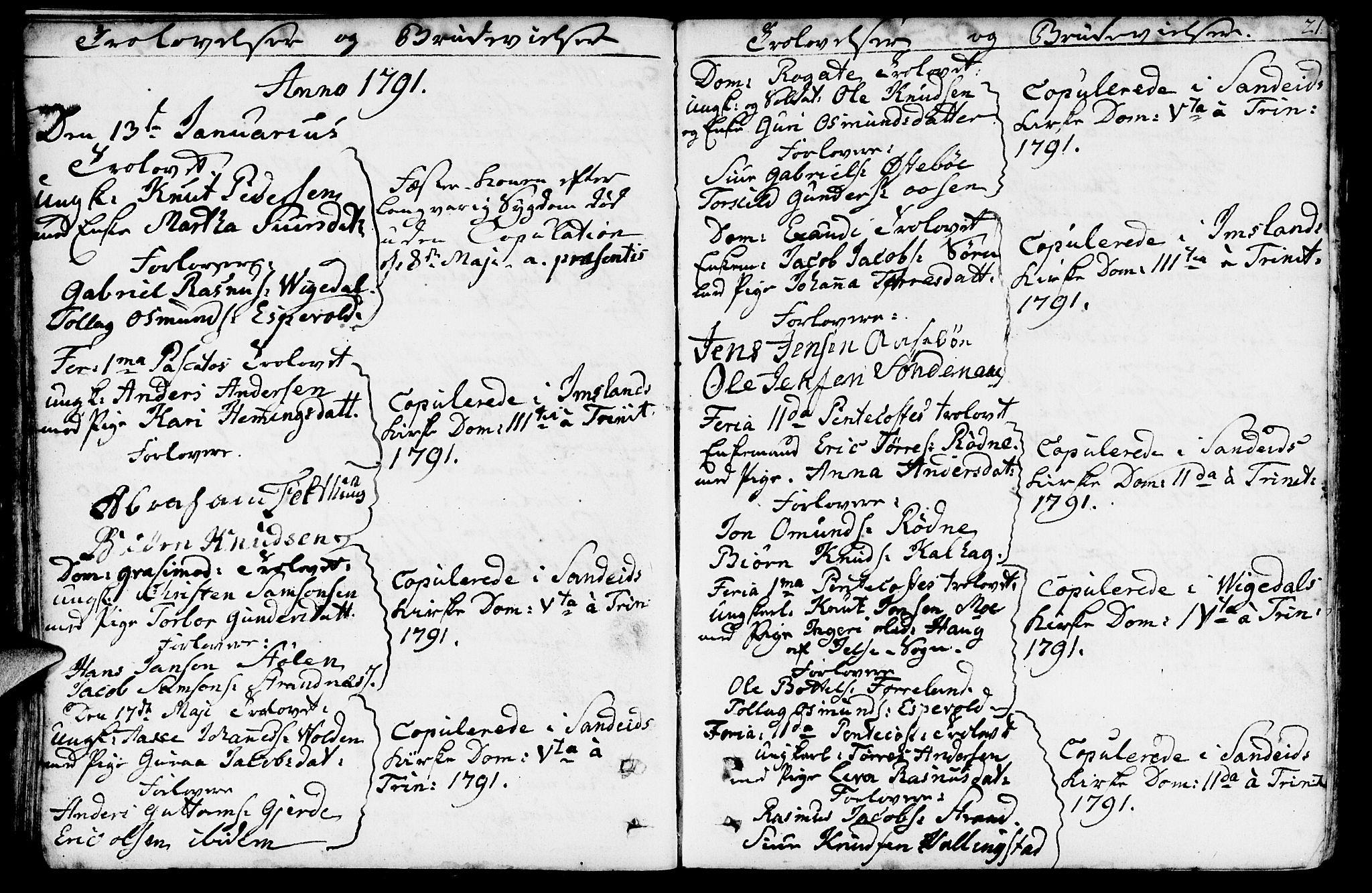 SAST, Vikedal sokneprestkontor, IV: Ministerialbok nr. A 2, 1779-1817, s. 21