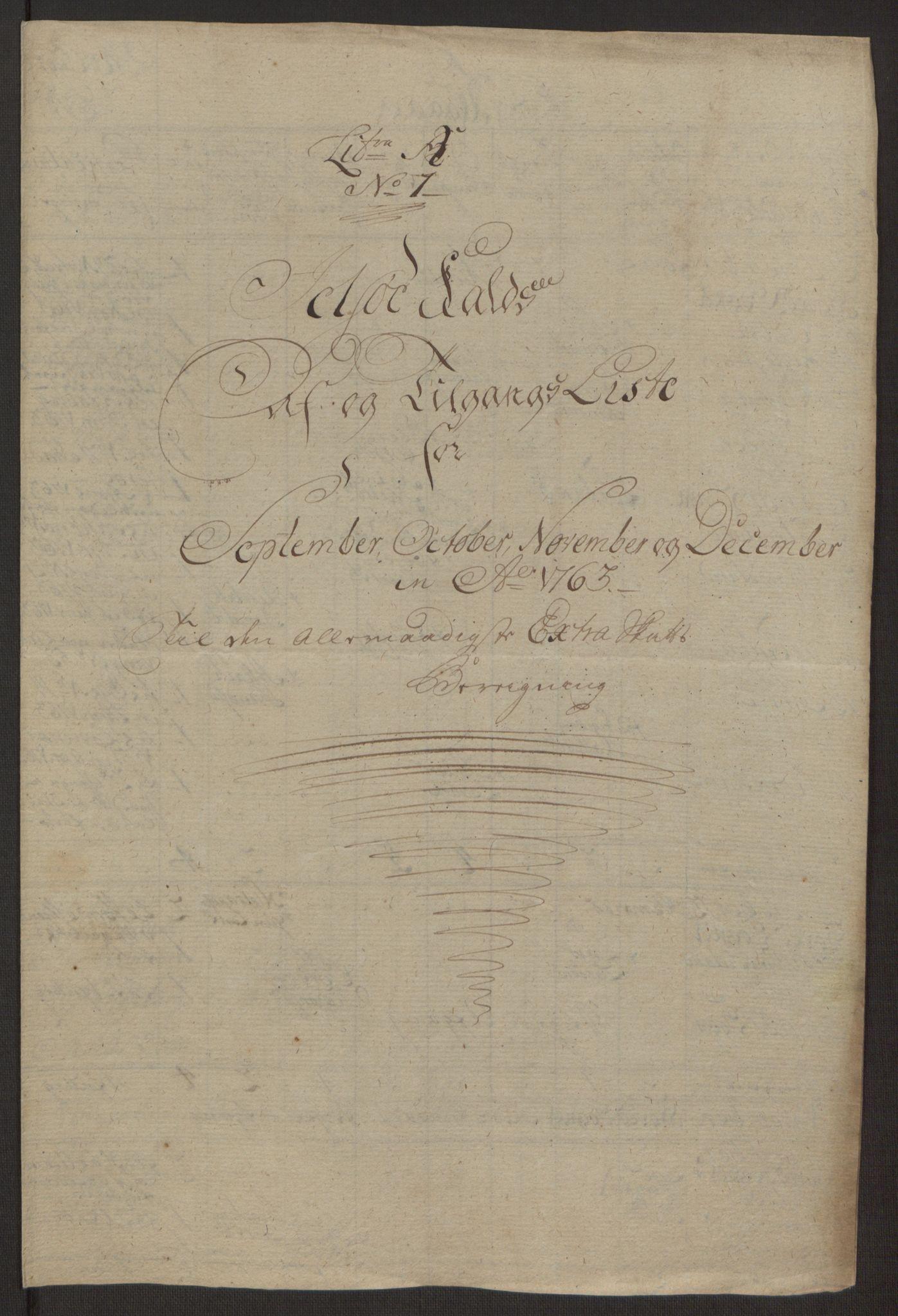 RA, Rentekammeret inntil 1814, Realistisk ordnet avdeling, Ol/L0016a: [Gg 10]: Ekstraskatten, 23.09.1762. Ryfylke, 1762-1768, s. 9