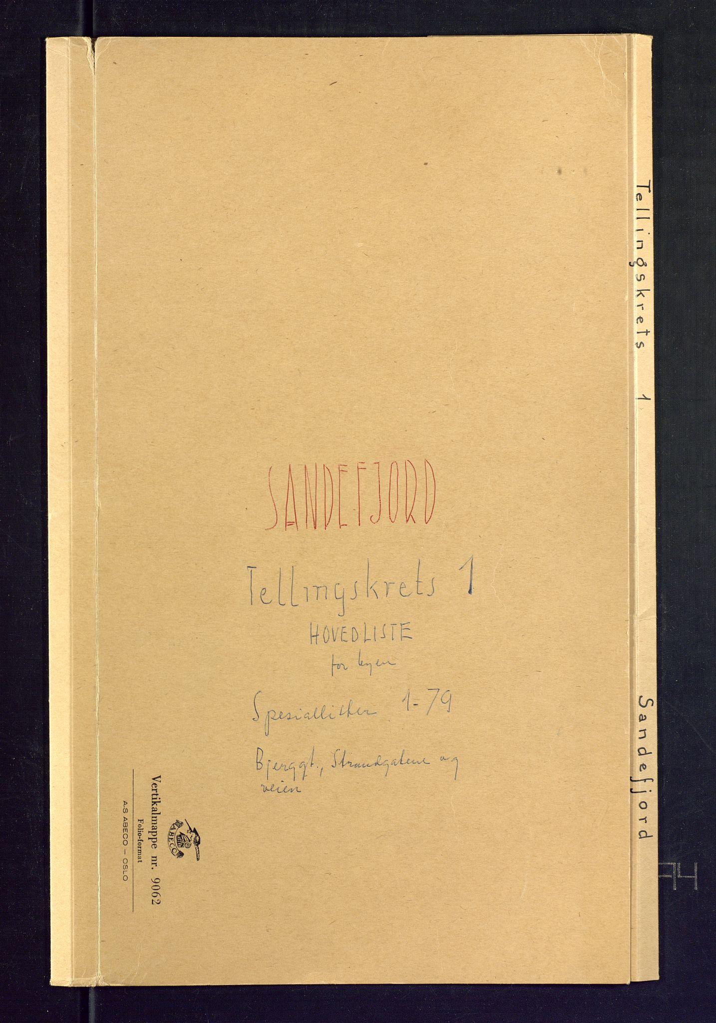 SAKO, Folketelling 1875 for 0706B Sandeherred prestegjeld, Sandefjord kjøpstad, 1875, s. 1