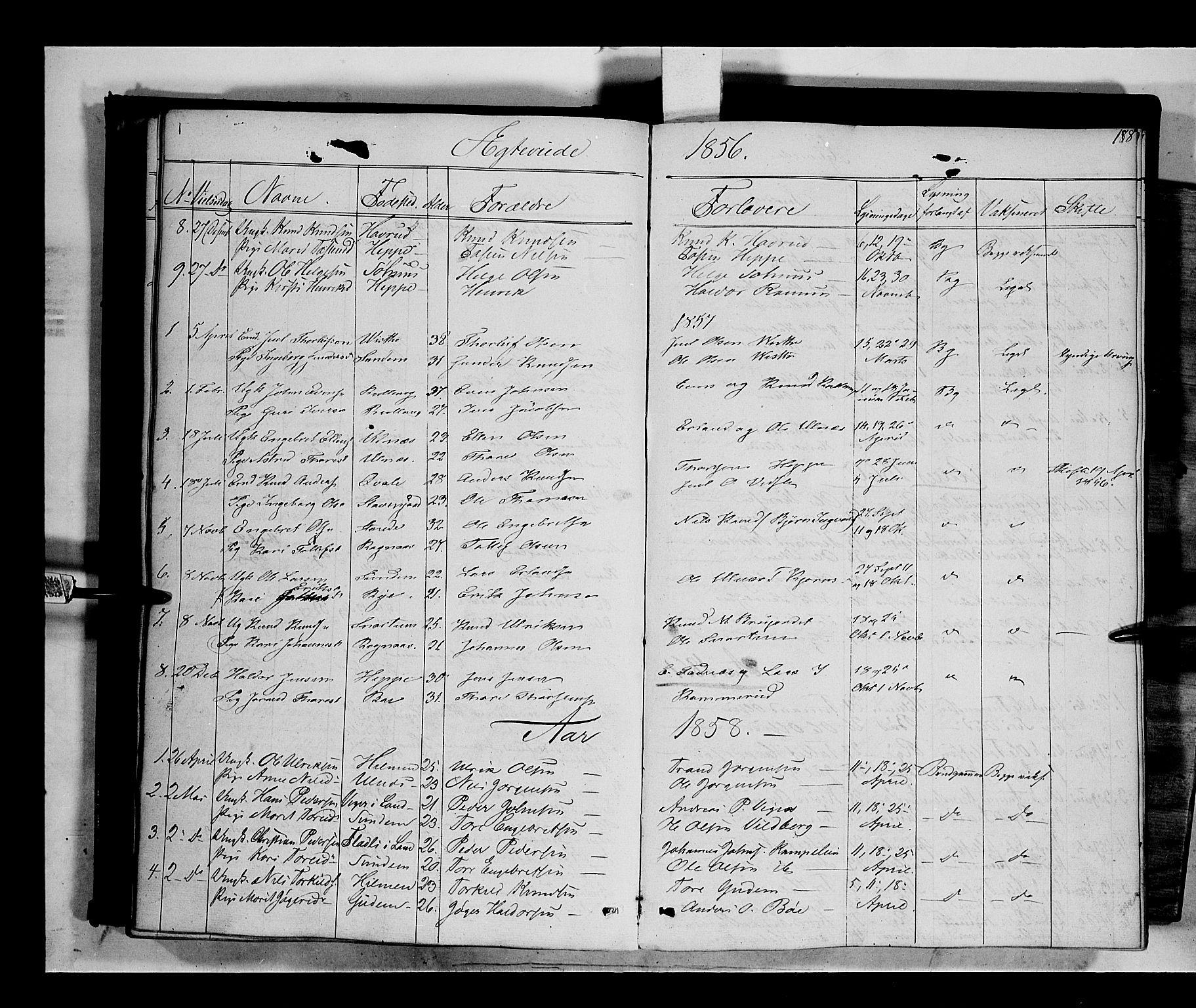 SAH, Nord-Aurdal prestekontor, Ministerialbok nr. 6, 1842-1863, s. 188