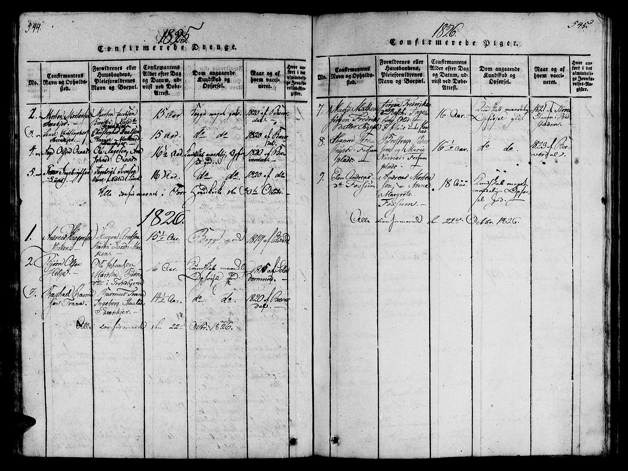 SAT, Ministerialprotokoller, klokkerbøker og fødselsregistre - Nord-Trøndelag, 746/L0441: Ministerialbok nr. 736A03 /3, 1816-1827, s. 544-545