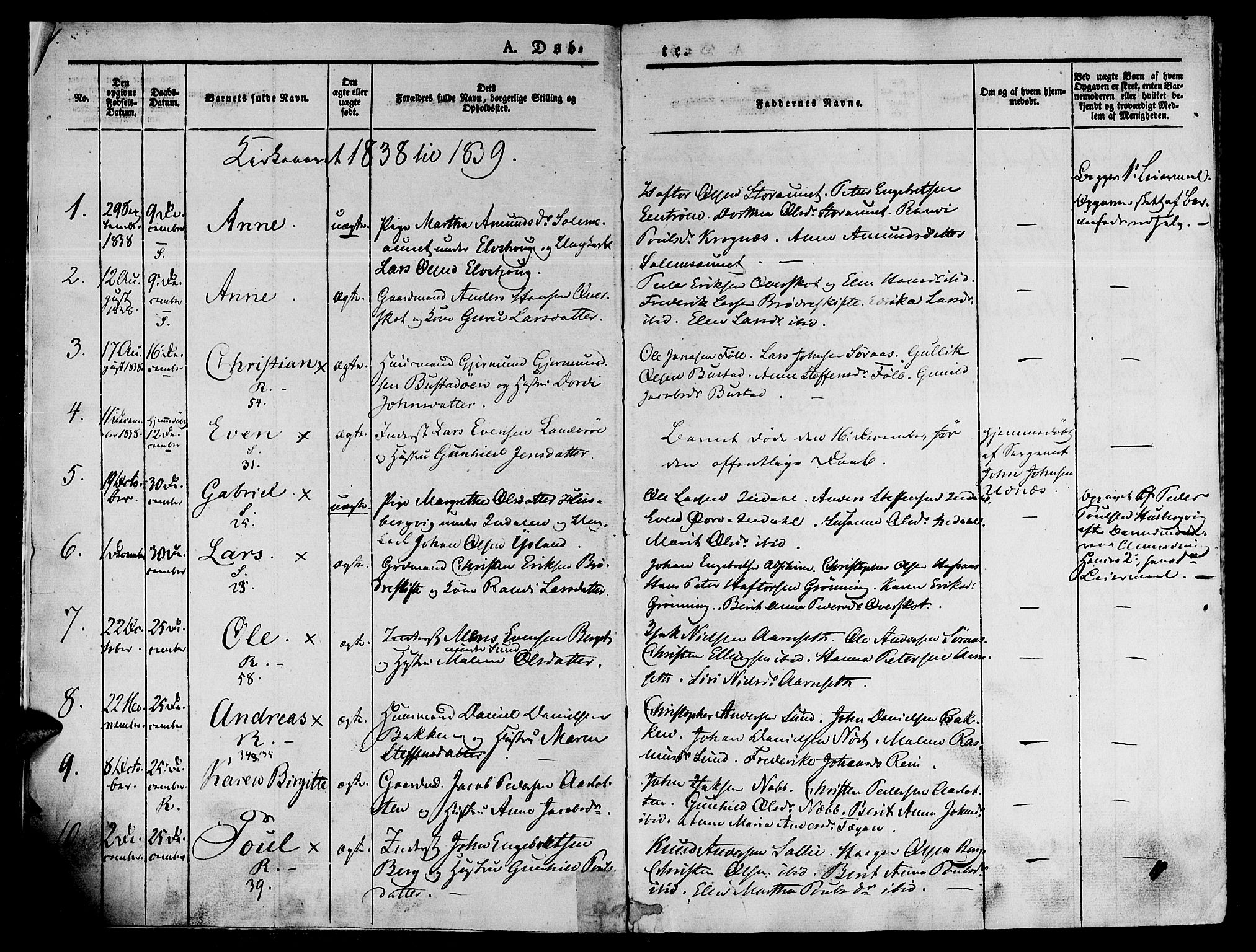 SAT, Ministerialprotokoller, klokkerbøker og fødselsregistre - Sør-Trøndelag, 646/L0610: Ministerialbok nr. 646A08, 1837-1847, s. 1