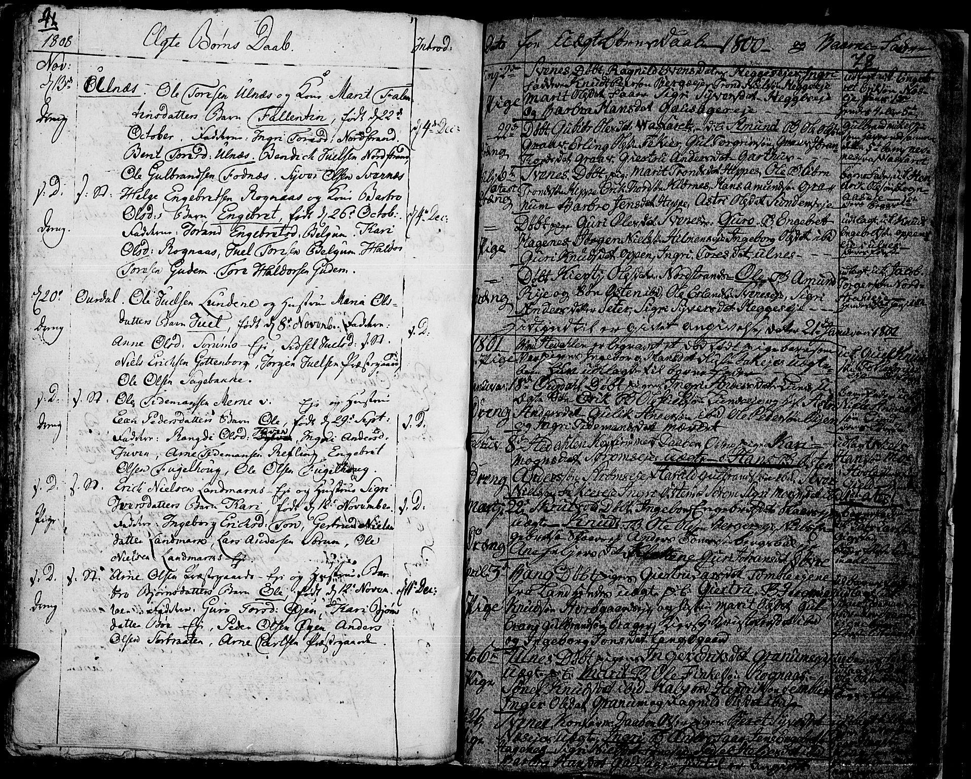 SAH, Aurdal prestekontor, Ministerialbok nr. 7, 1800-1808, s. 78