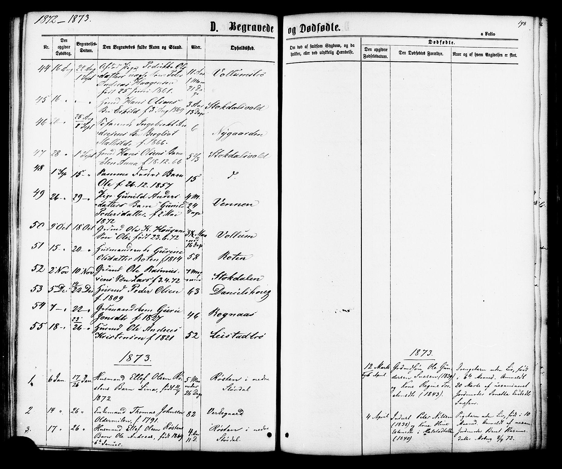 SAT, Ministerialprotokoller, klokkerbøker og fødselsregistre - Sør-Trøndelag, 616/L0409: Ministerialbok nr. 616A06, 1865-1877, s. 198