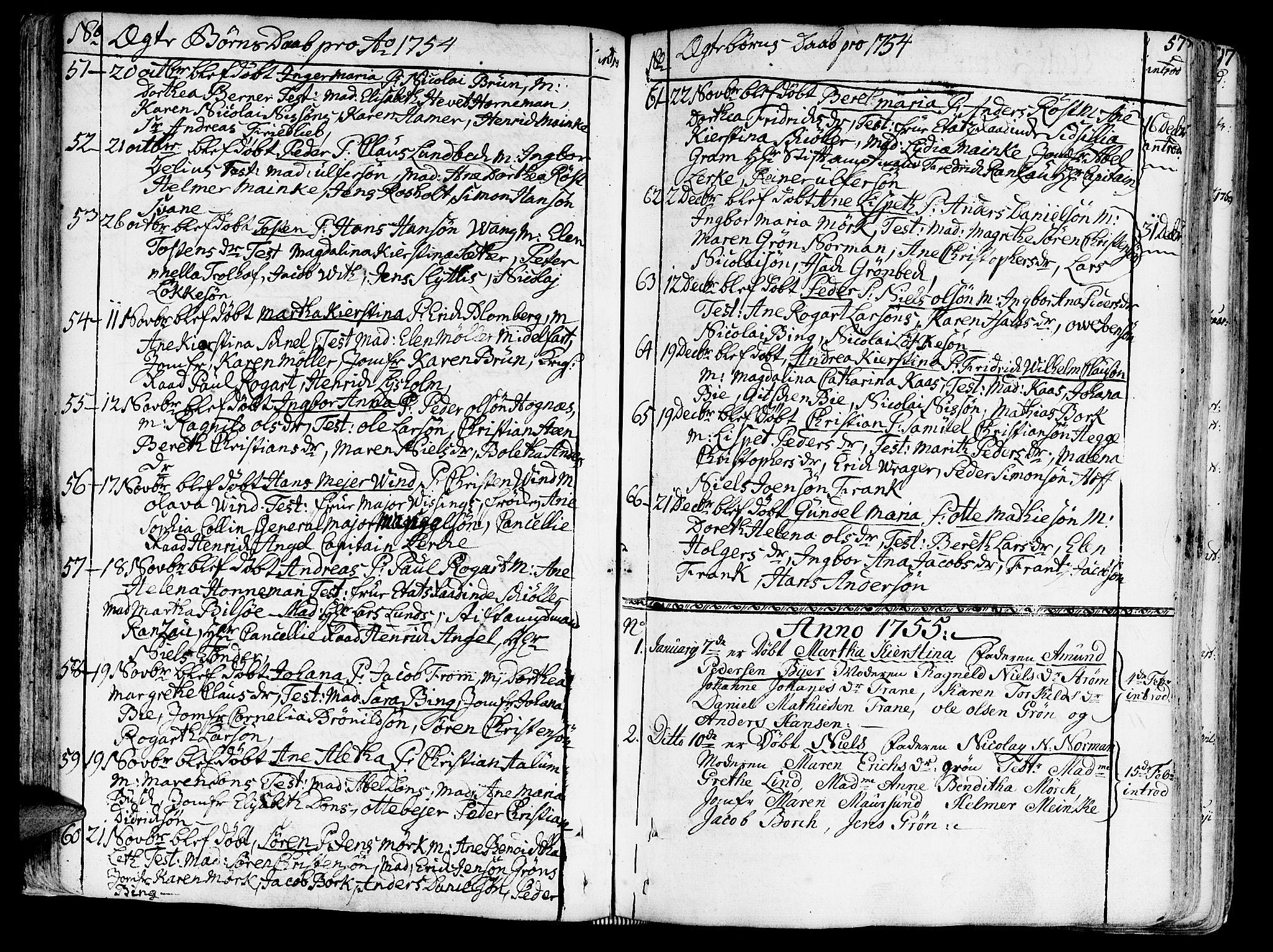 SAT, Ministerialprotokoller, klokkerbøker og fødselsregistre - Sør-Trøndelag, 602/L0103: Ministerialbok nr. 602A01, 1732-1774, s. 57