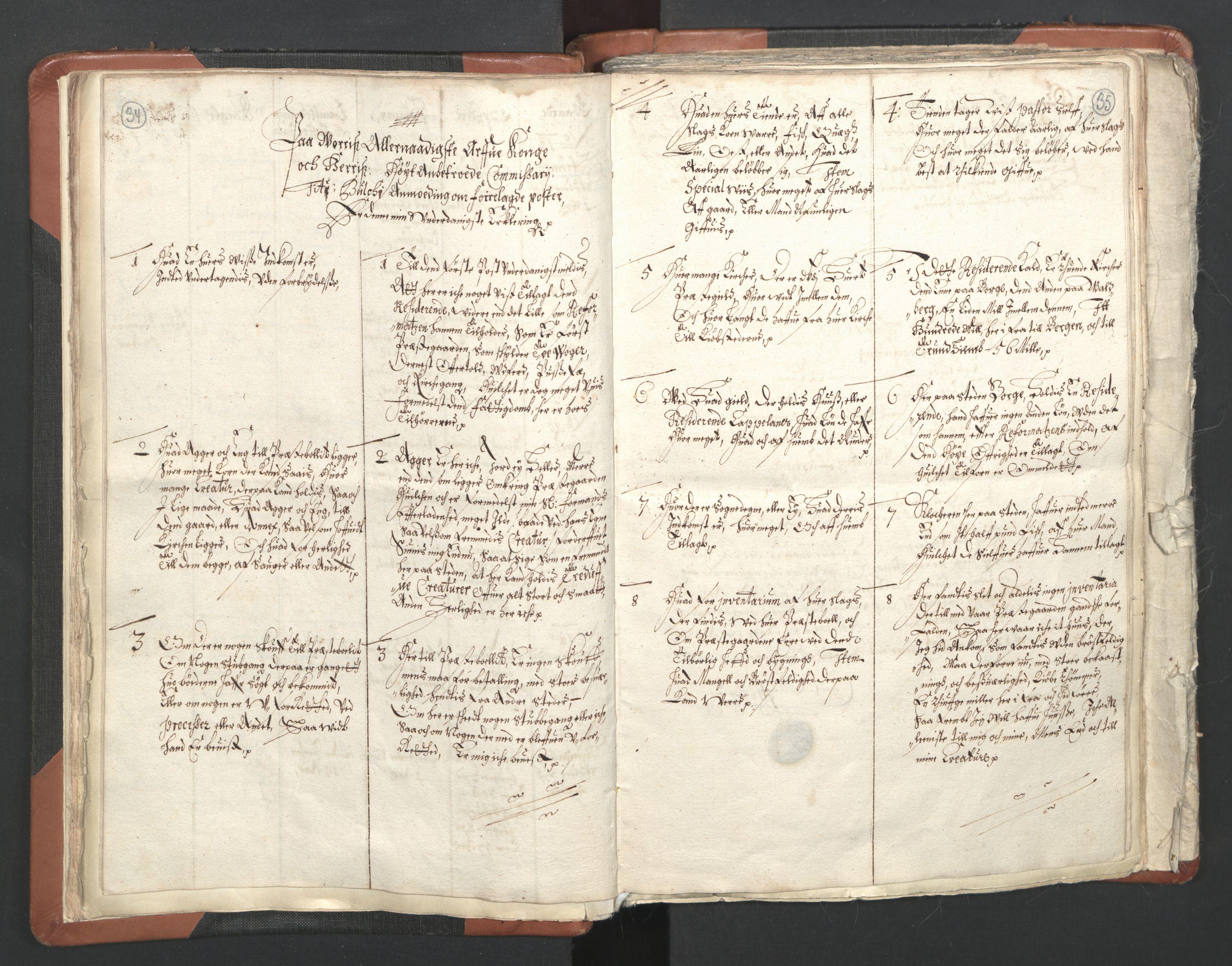 RA, Sogneprestenes manntall 1664-1666, nr. 36: Lofoten og Vesterålen prosti, Senja prosti og Troms prosti, 1664-1666, s. 34-35