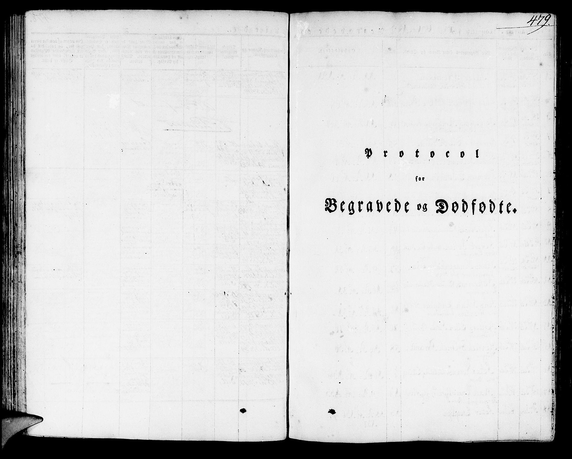 SAB, Domkirken Sokneprestembete, H/Haa/L0012: Ministerialbok nr. A 12, 1821-1840, s. 479