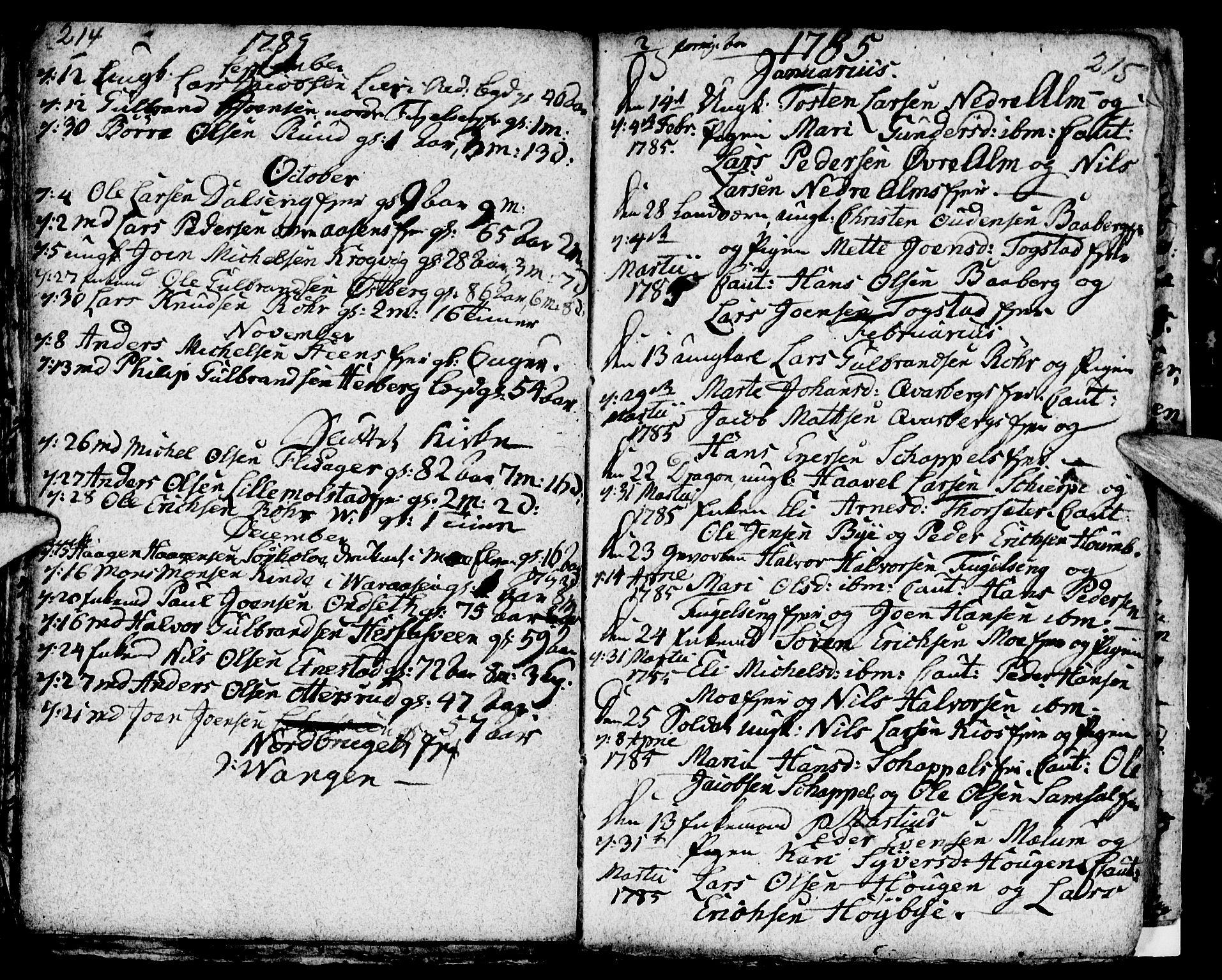 SAH, Ringsaker prestekontor, I/Ia/L0005/0004: Kladd til kirkebok nr. 1D, 1785-1789, s. 214-215