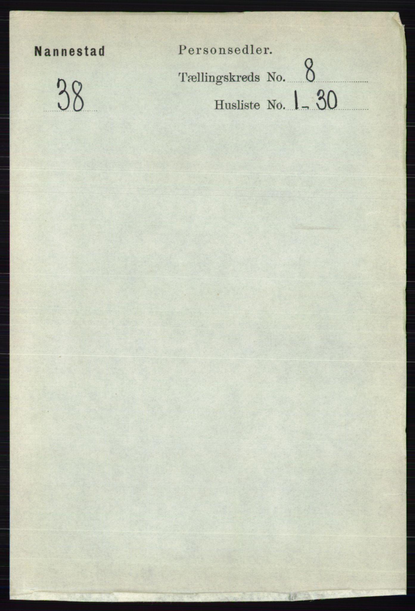 RA, Folketelling 1891 for 0238 Nannestad herred, 1891, s. 4429