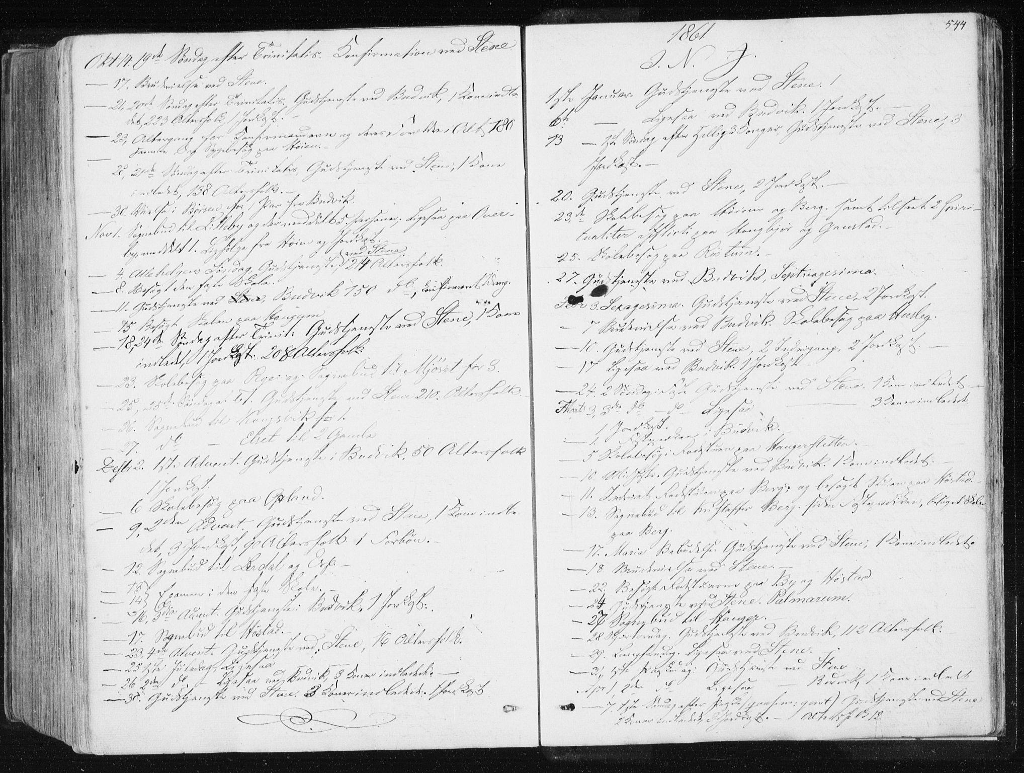 SAT, Ministerialprotokoller, klokkerbøker og fødselsregistre - Sør-Trøndelag, 612/L0377: Ministerialbok nr. 612A09, 1859-1877, s. 544