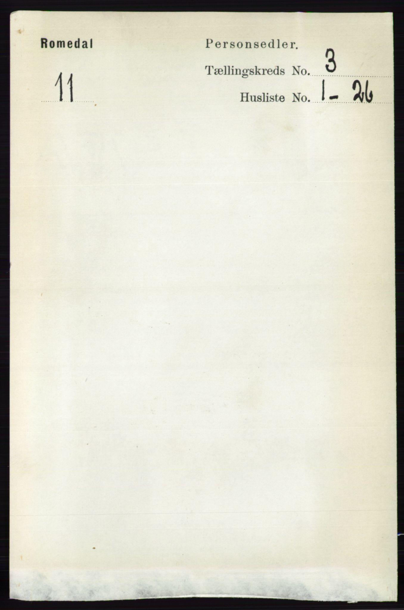 RA, Folketelling 1891 for 0416 Romedal herred, 1891, s. 1418