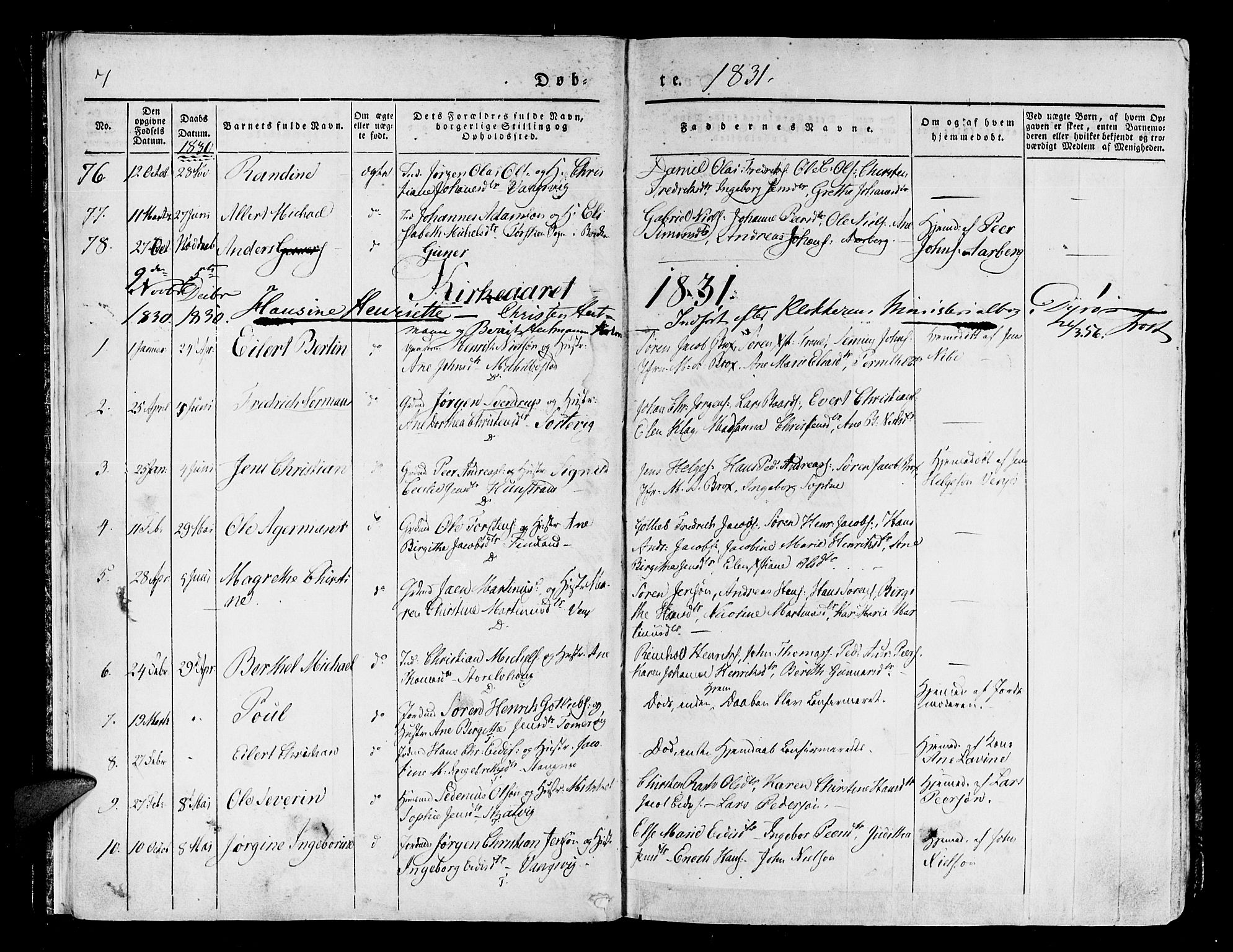 SATØ, Tranøy sokneprestkontor, I/Ia/Iaa/L0005kirke: Ministerialbok nr. 5, 1829-1844, s. 7
