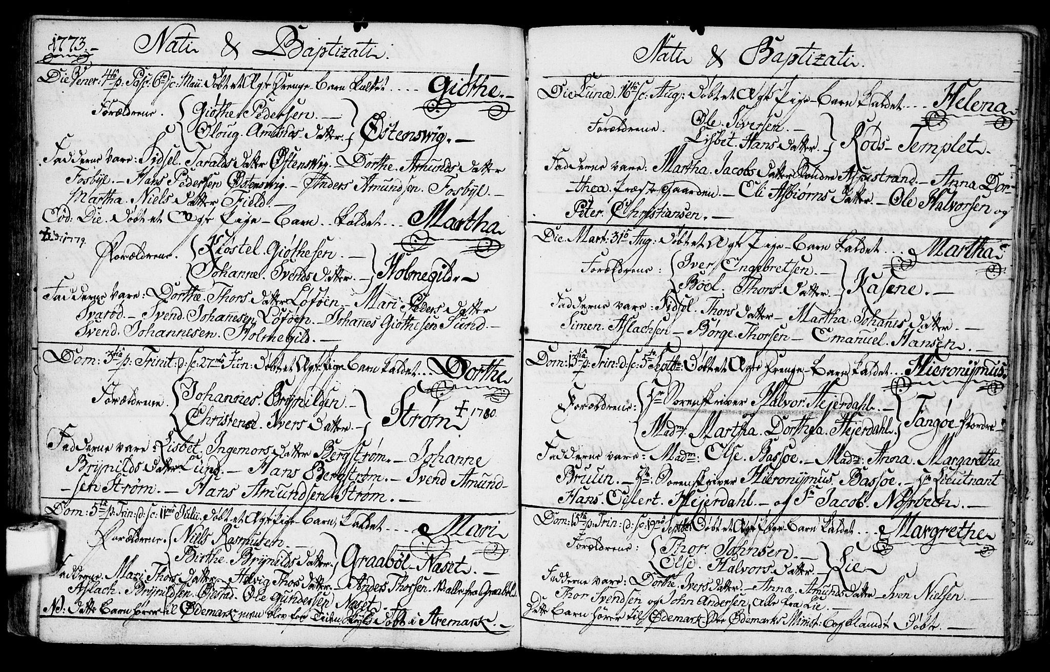 SAO, Aremark prestekontor Kirkebøker, F/Fa/L0002: Ministerialbok nr. I 2, 1745-1795