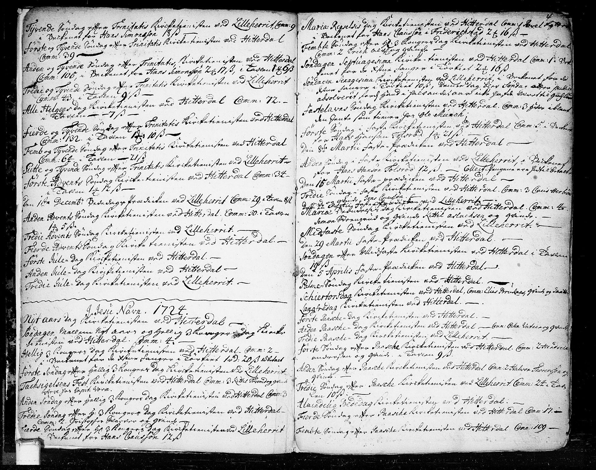 SAKO, Heddal kirkebøker, F/Fa/L0003: Ministerialbok nr. I 3, 1723-1783, s. 4