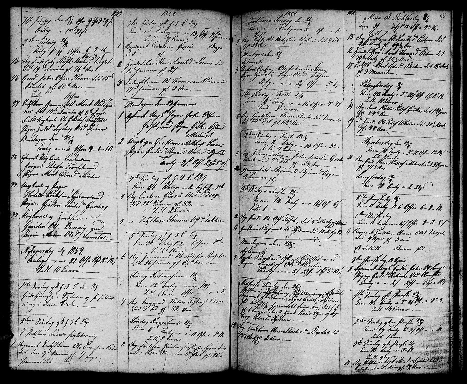 SAT, Ministerialprotokoller, klokkerbøker og fødselsregistre - Sør-Trøndelag, 695/L1154: Klokkerbok nr. 695C05, 1842-1858, s. 96