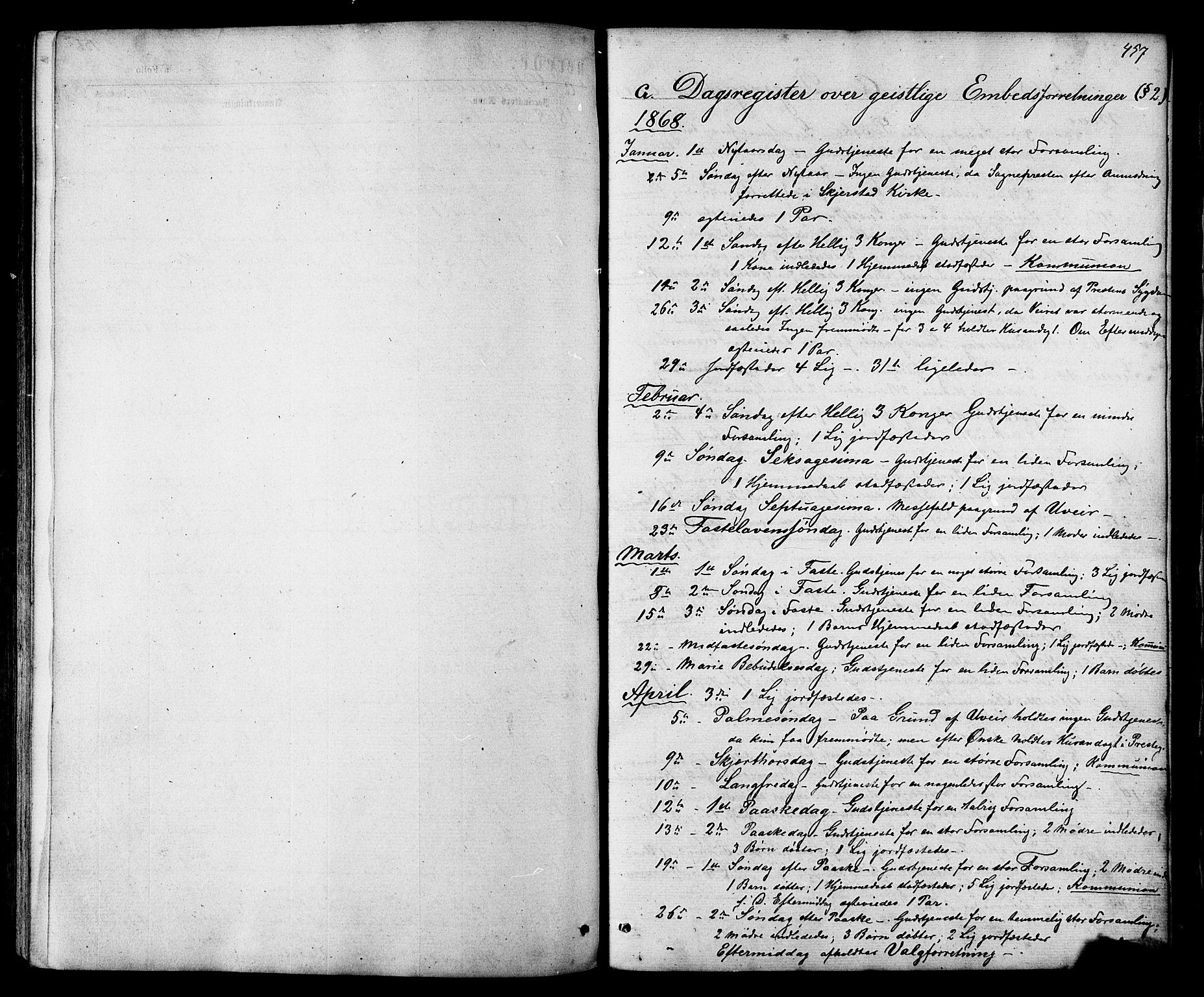 SAT, Ministerialprotokoller, klokkerbøker og fødselsregistre - Nordland, 801/L0029: Klokkerbok nr. 801C04, 1868-1878, s. 457